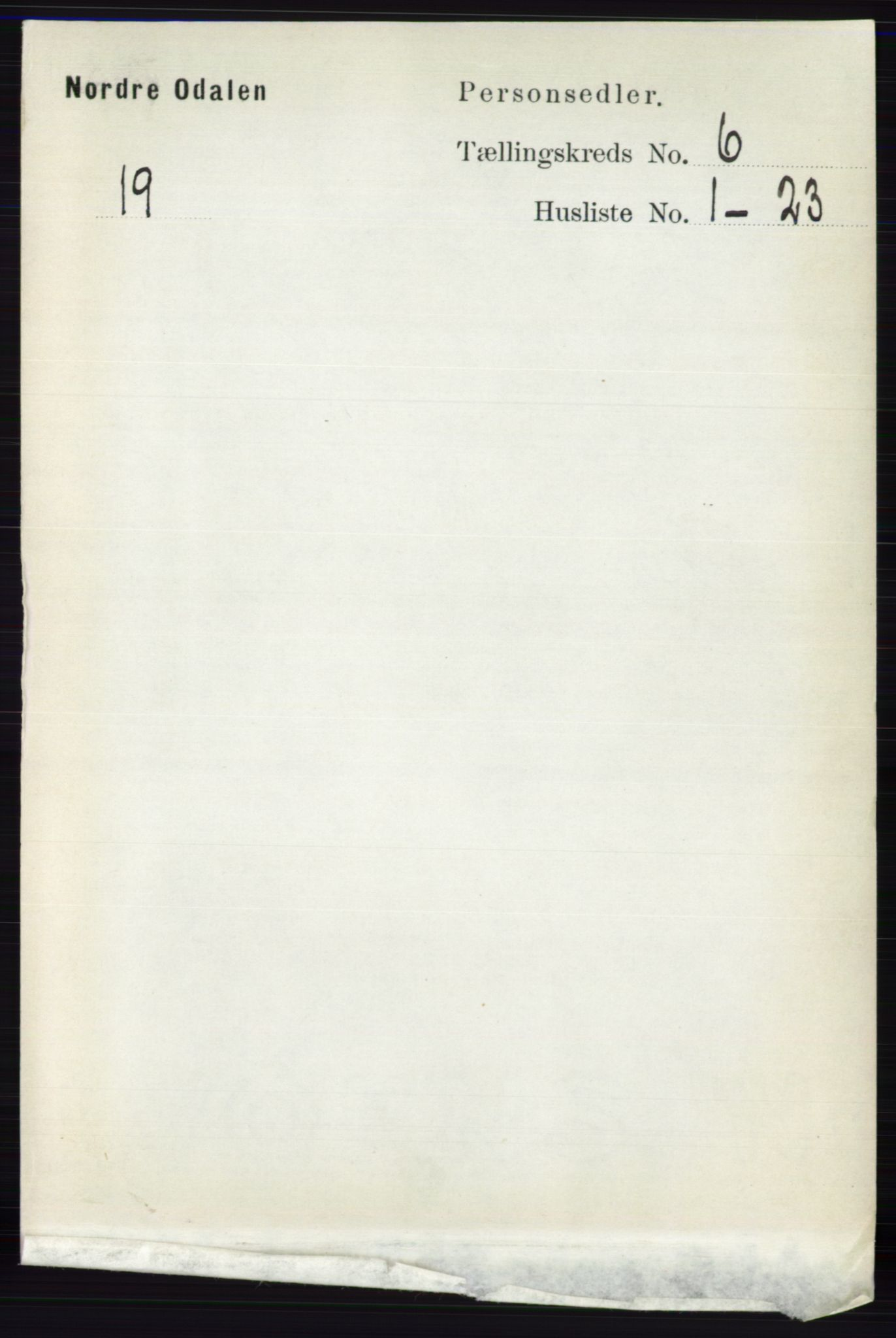 RA, Folketelling 1891 for 0418 Nord-Odal herred, 1891, s. 2272