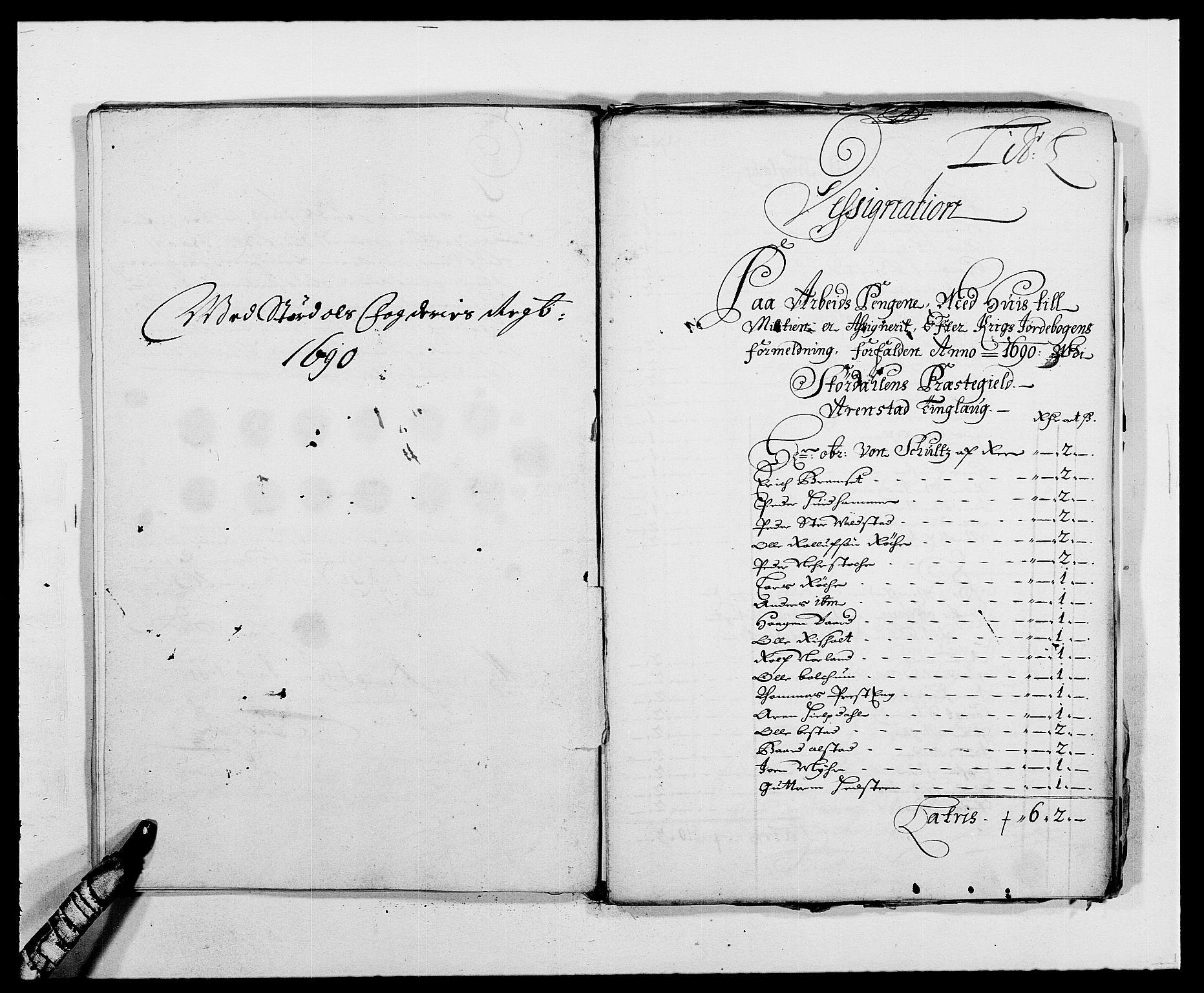 RA, Rentekammeret inntil 1814, Reviderte regnskaper, Fogderegnskap, R62/L4184: Fogderegnskap Stjørdal og Verdal, 1690-1691, s. 170