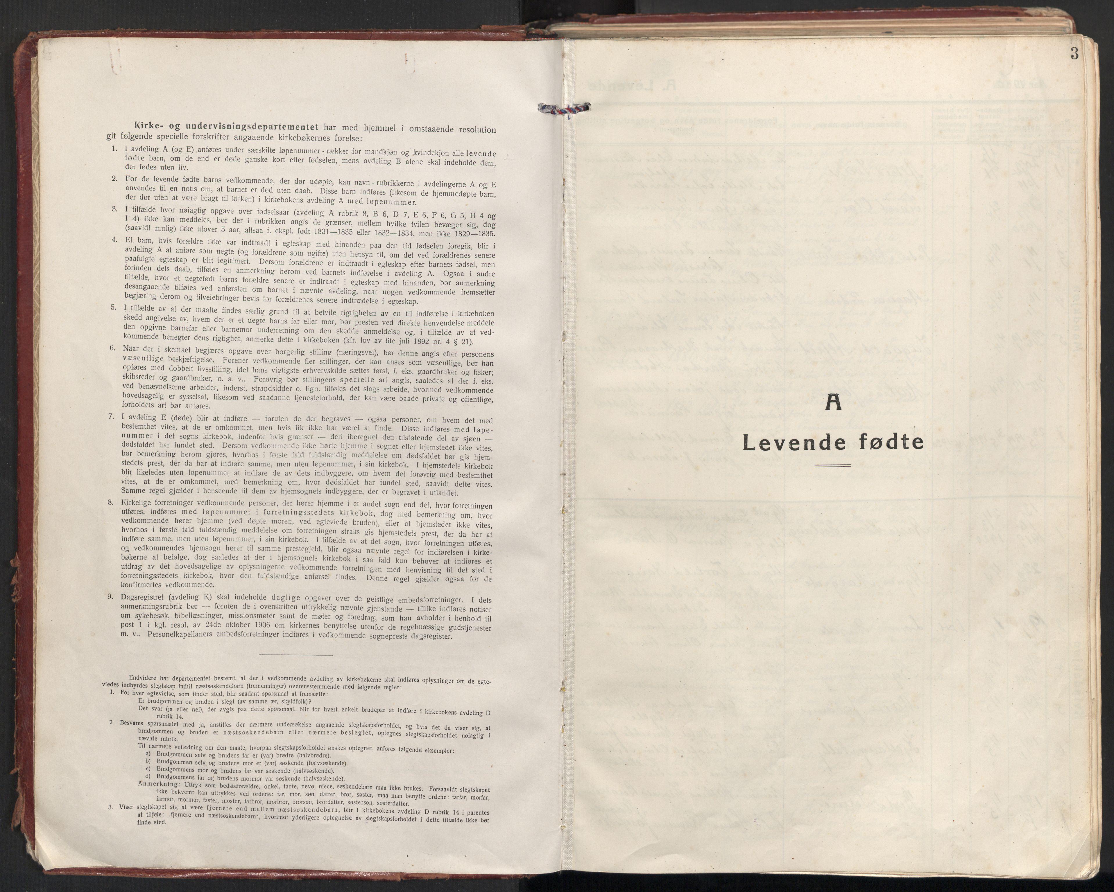 SAT, Ministerialprotokoller, klokkerbøker og fødselsregistre - Møre og Romsdal, 501/L0012: Ministerialbok nr. 501A12, 1920-1946, s. 3