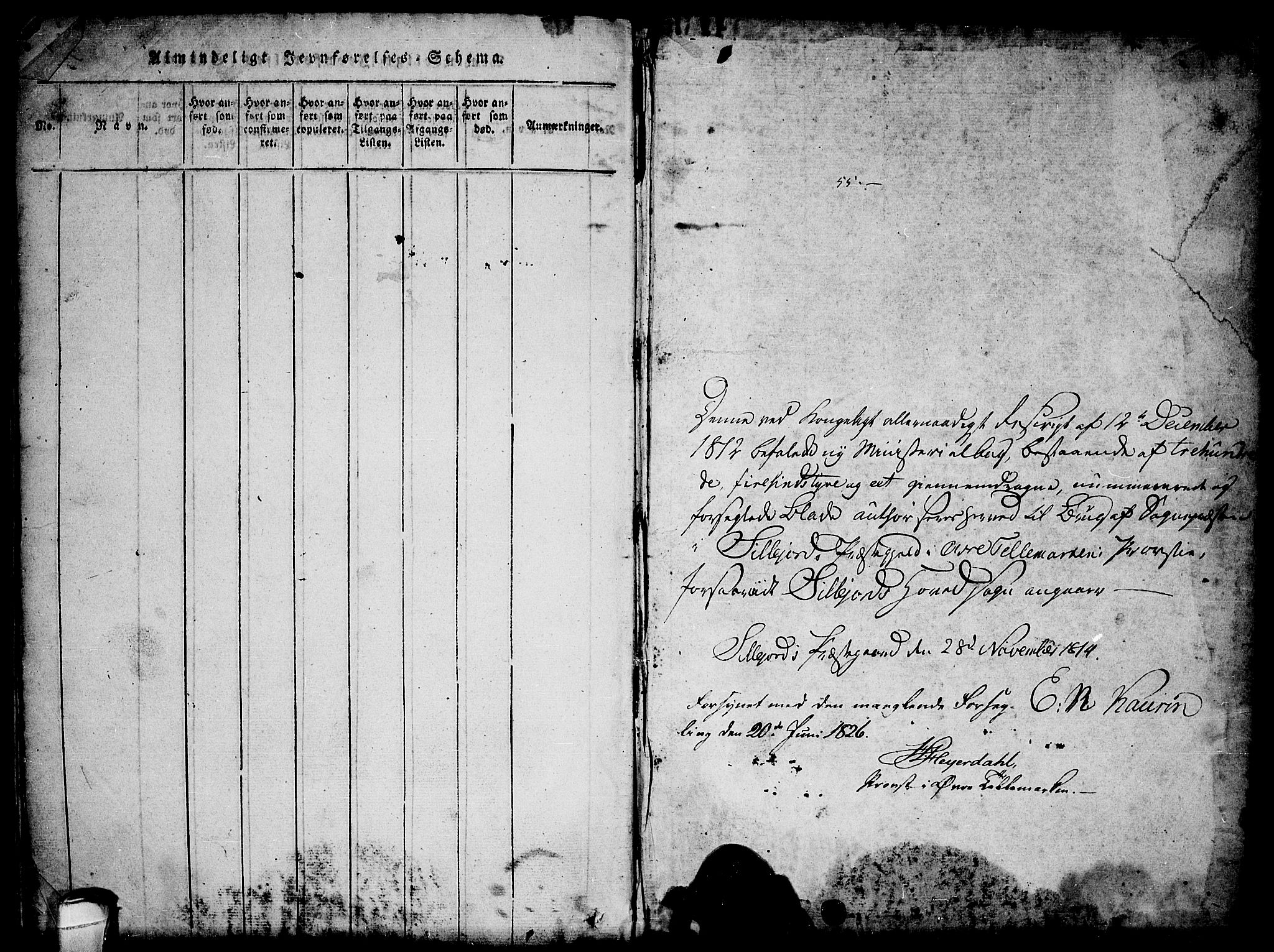 SAKO, Seljord kirkebøker, F/Fa/L0010: Ministerialbok nr. I 10, 1815-1831