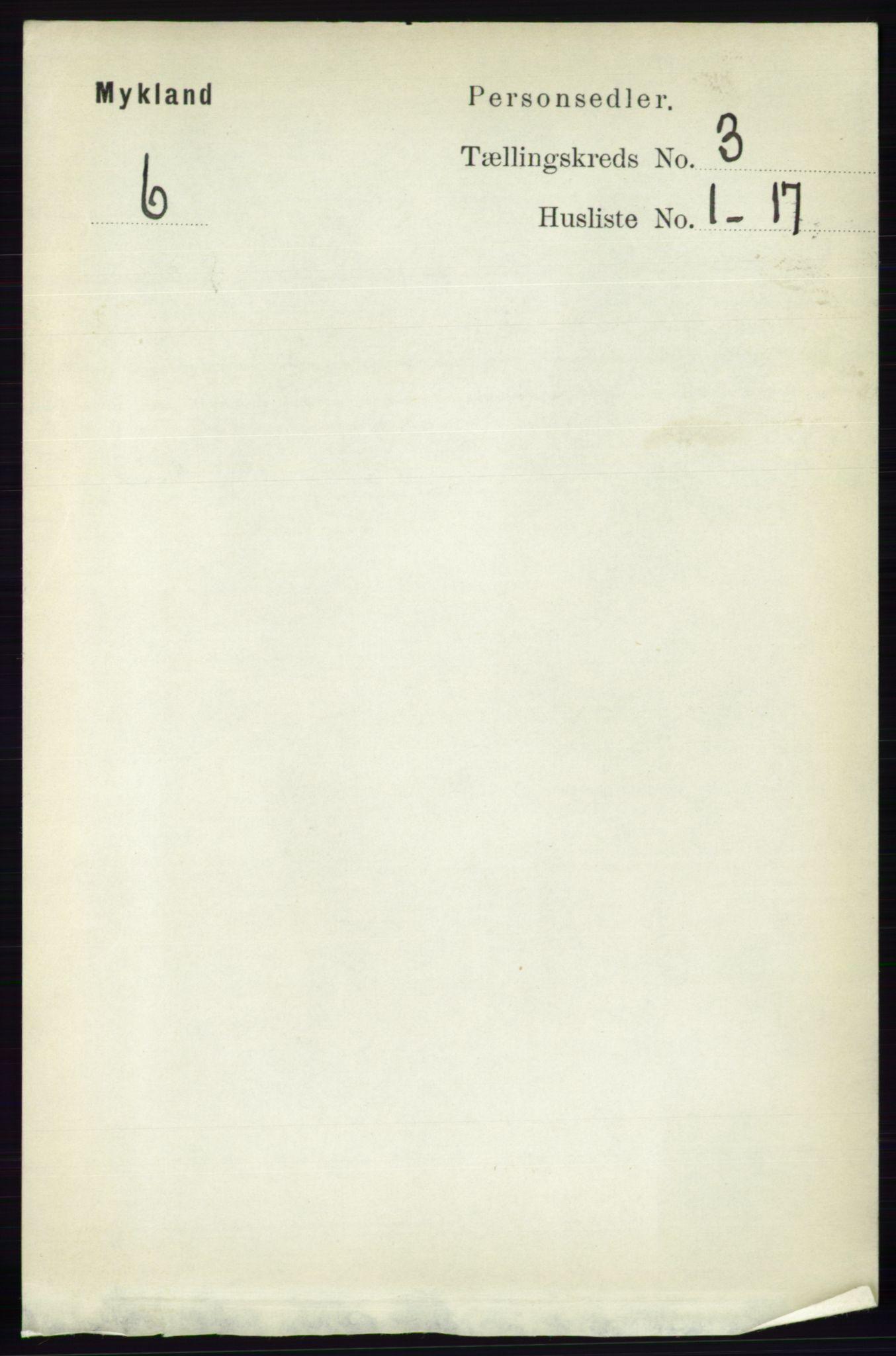 RA, Folketelling 1891 for 0932 Mykland herred, 1891, s. 565