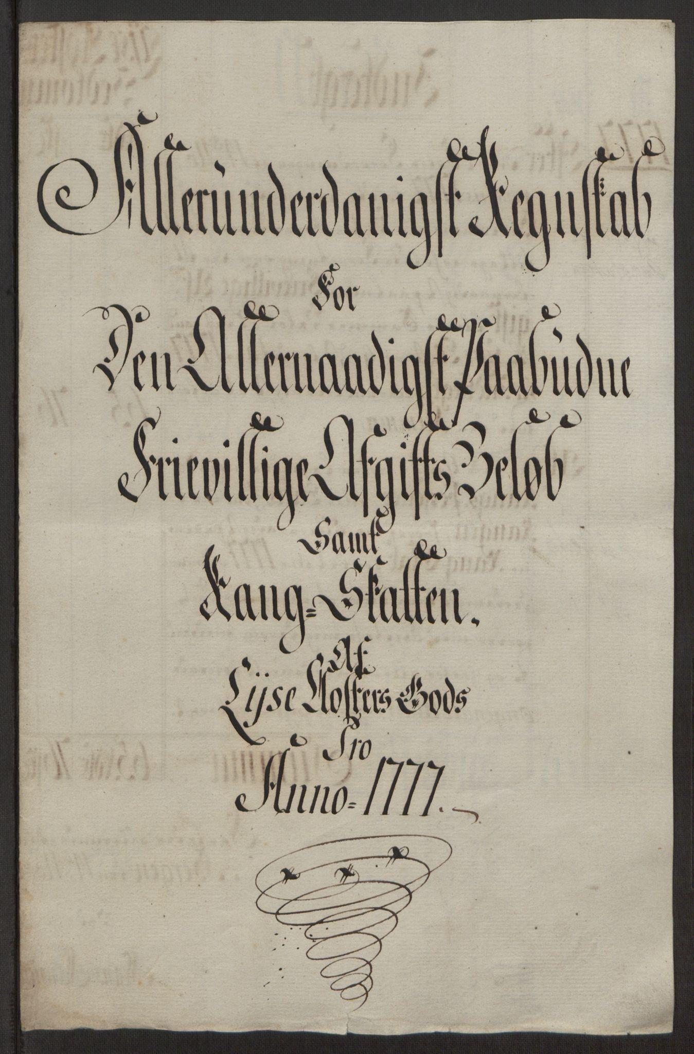 RA, Rentekammeret inntil 1814, Reviderte regnskaper, Fogderegnskap, R50/L3180: Ekstraskatten Lyse kloster, 1762-1783, s. 398