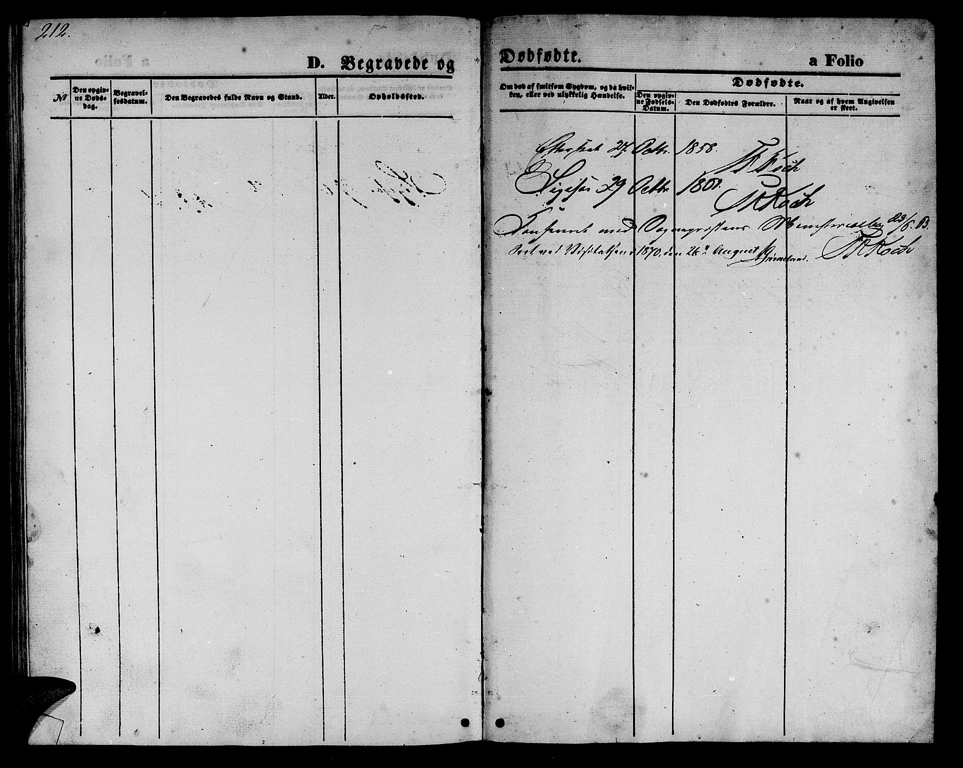 SAT, Ministerialprotokoller, klokkerbøker og fødselsregistre - Nord-Trøndelag, 723/L0254: Klokkerbok nr. 723C02, 1858-1868, s. 212