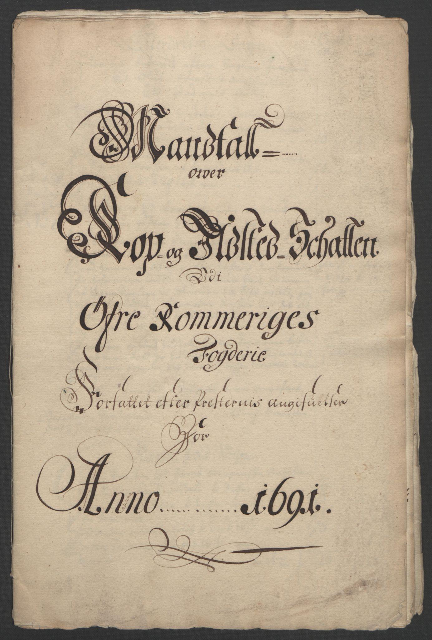RA, Rentekammeret inntil 1814, Reviderte regnskaper, Fogderegnskap, R12/L0703: Fogderegnskap Øvre Romerike, 1691, s. 237
