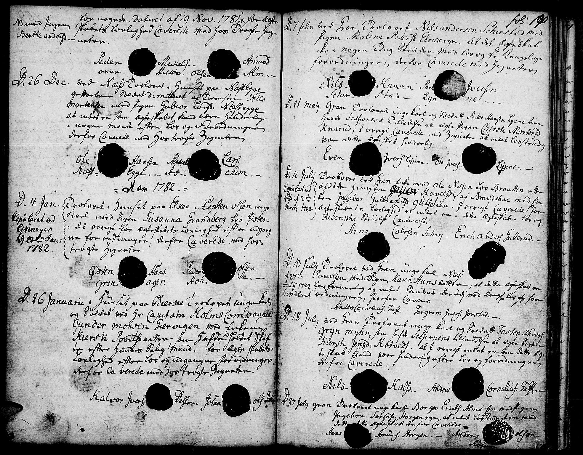 SAH, Gran prestekontor, Ministerialbok nr. 5, 1776-1788, s. 190