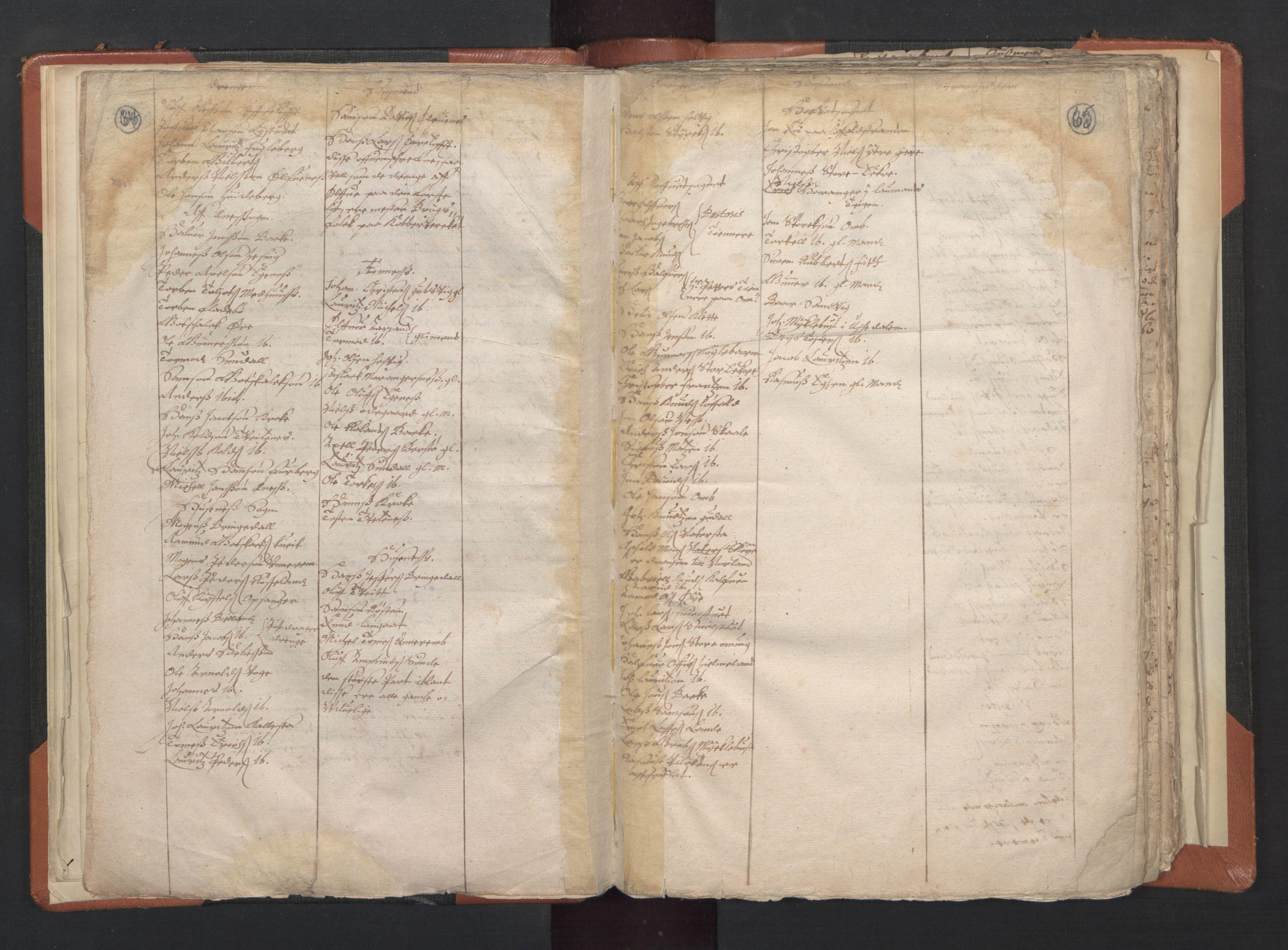 RA, Sogneprestenes manntall 1664-1666, nr. 20: Sunnhordland prosti, 1664-1666, s. 64-65