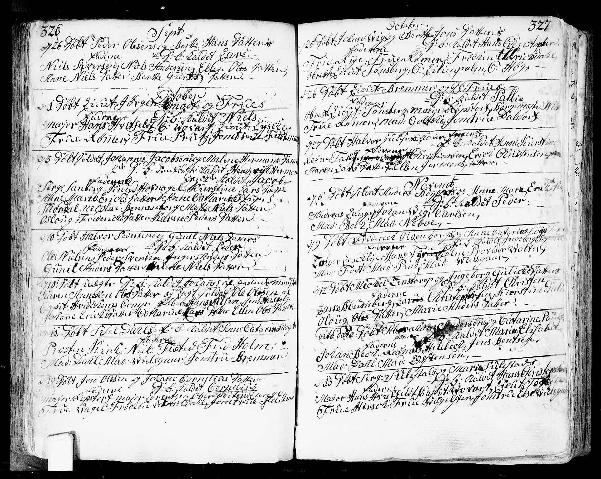 SAO, Fredrikstad prestekontor Kirkebøker, F/Fa/L0002: Ministerialbok nr. 2, 1750-1804, s. 326-327
