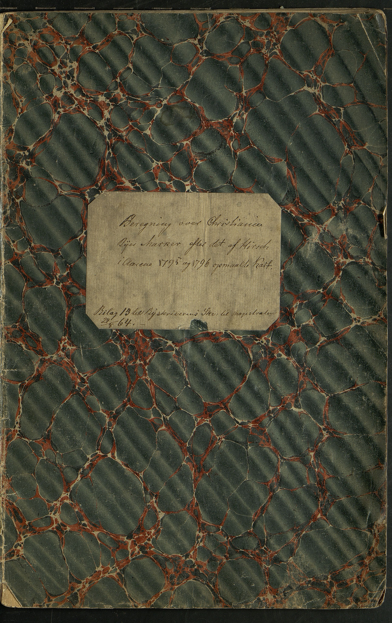 OBA, Oppmålingsvesenet, F/Fa/L0002: Oppmålingsforretning og matrikkel for byen 1794 og bymarka 1795-96, 1795-1796