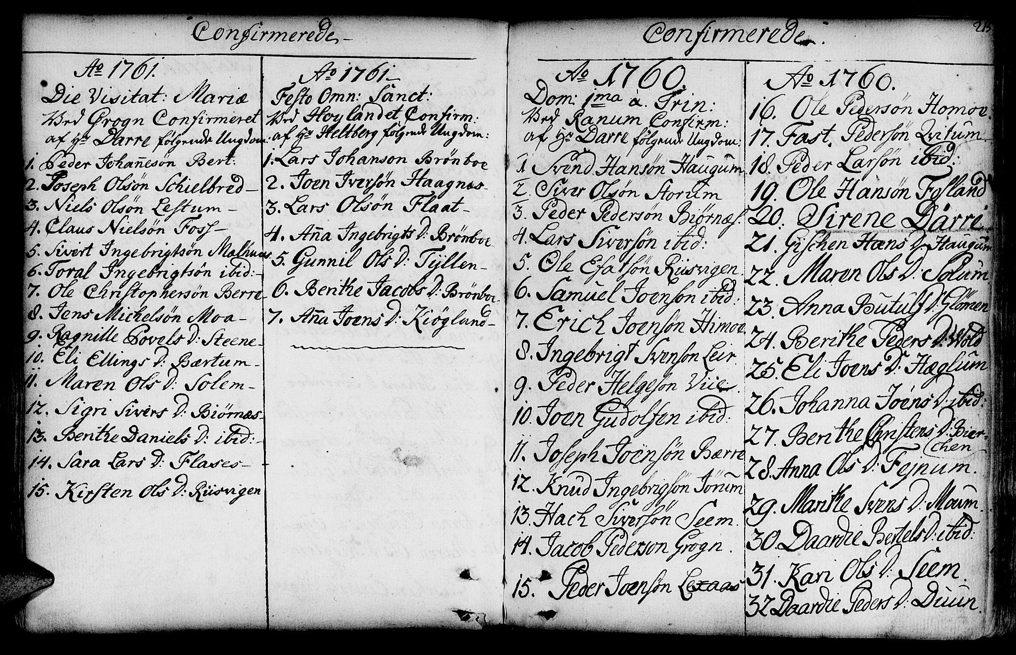 SAT, Ministerialprotokoller, klokkerbøker og fødselsregistre - Nord-Trøndelag, 764/L0542: Ministerialbok nr. 764A02, 1748-1779, s. 215
