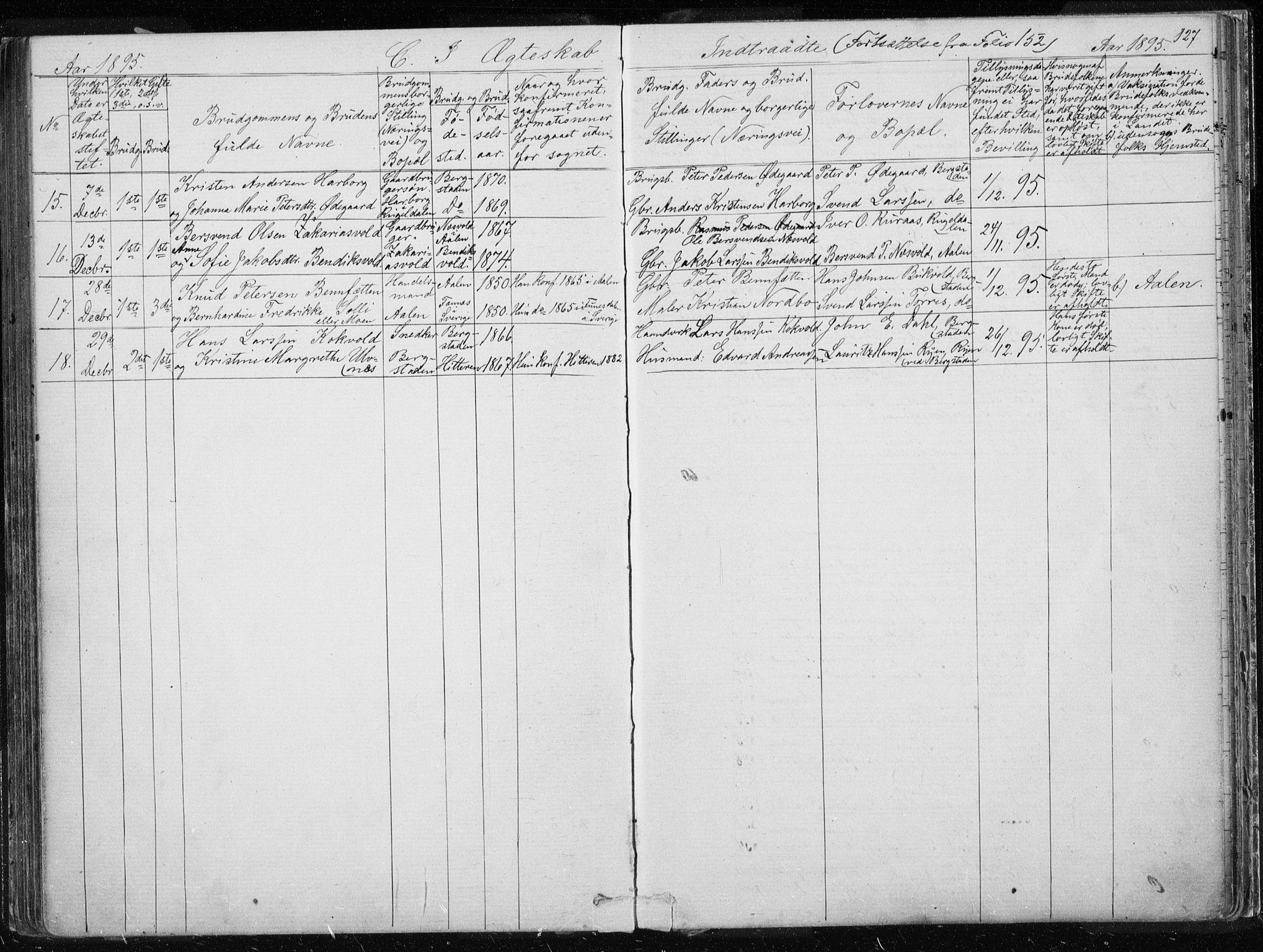 SAT, Ministerialprotokoller, klokkerbøker og fødselsregistre - Sør-Trøndelag, 681/L0940: Klokkerbok nr. 681C04, 1880-1895, s. 127