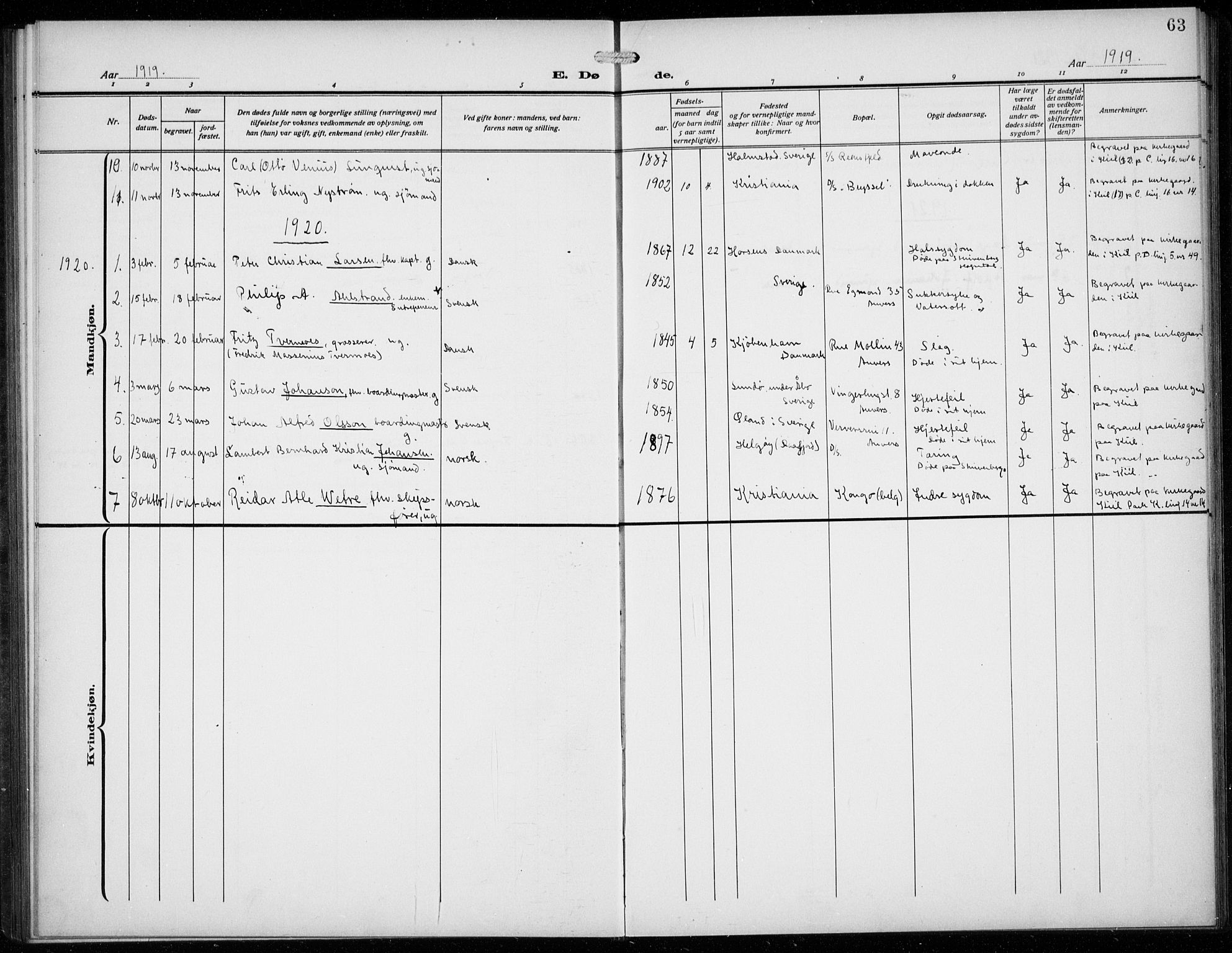 SAB, Den Norske Sjømannsmisjon i utlandet*, Ministerialbok nr. A 3, 1914-1930, s. 63