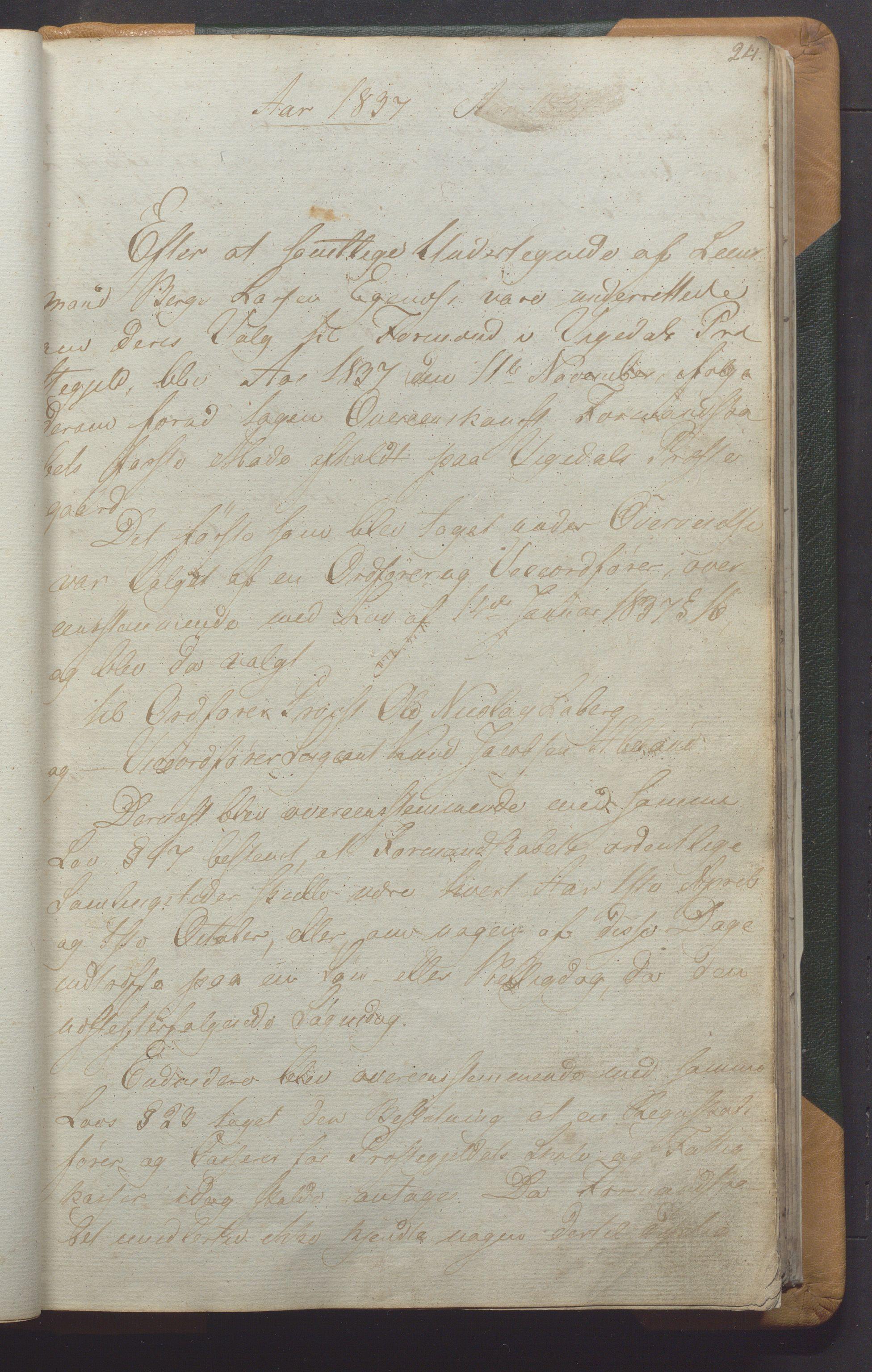 IKAR, Vikedal kommune - Formannskapet, Aaa/L0001: Møtebok, 1837-1874, s. 24a