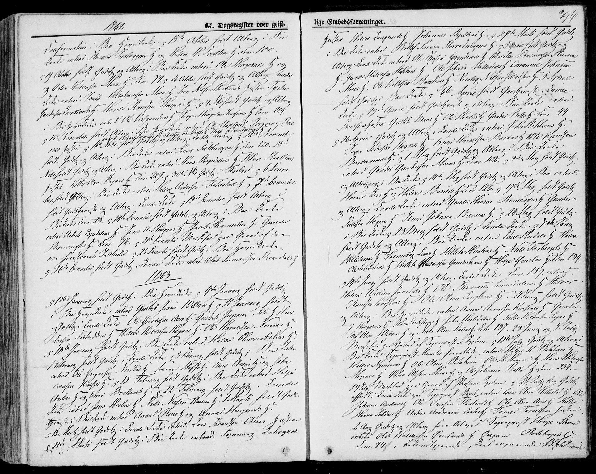 SAKO, Bø kirkebøker, F/Fa/L0009: Ministerialbok nr. 9, 1862-1879, s. 396