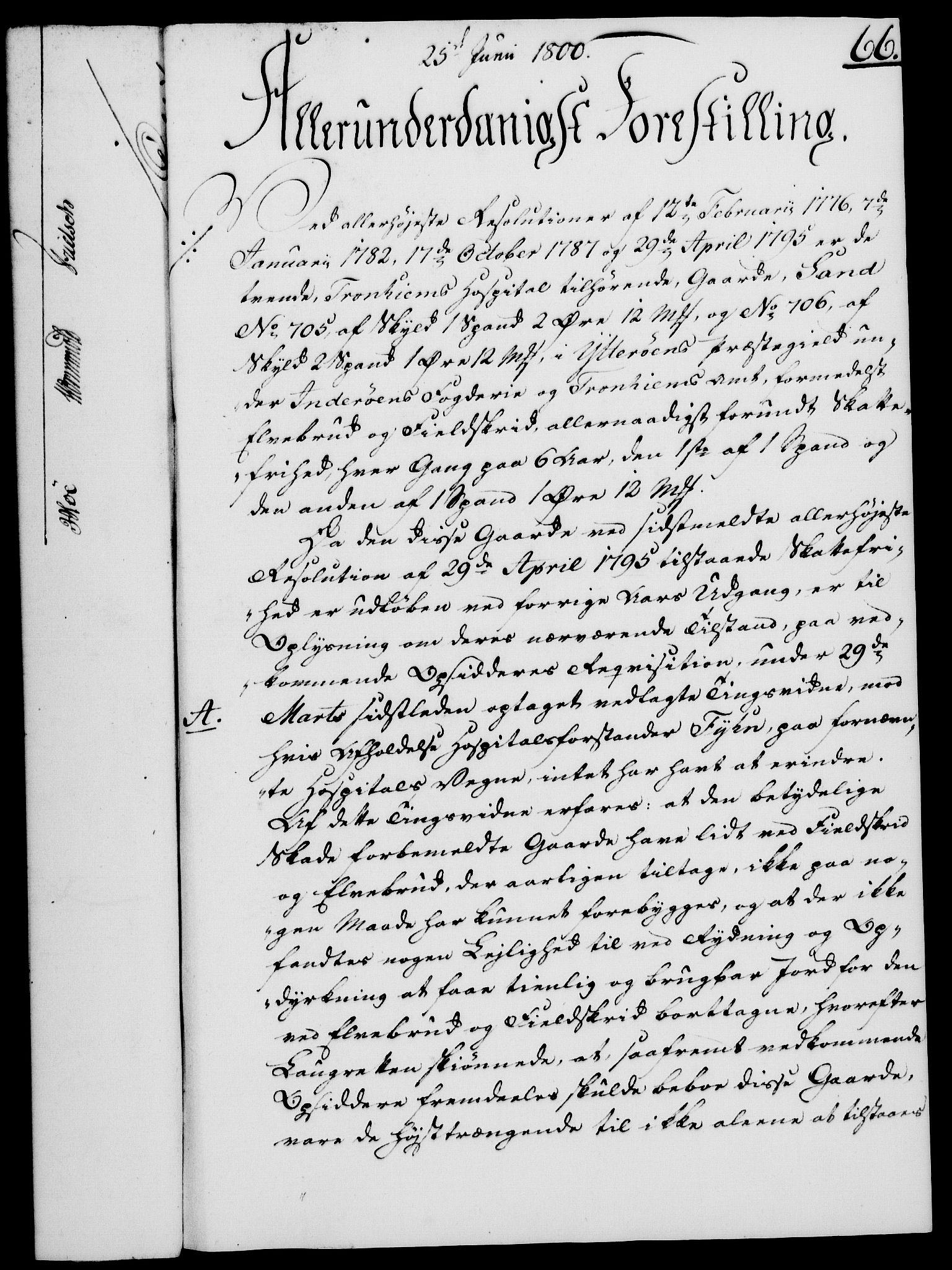 RA, Rentekammeret, Kammerkanselliet, G/Gf/Gfa/L0082: Norsk relasjons- og resolusjonsprotokoll (merket RK 52.82), 1800, s. 414