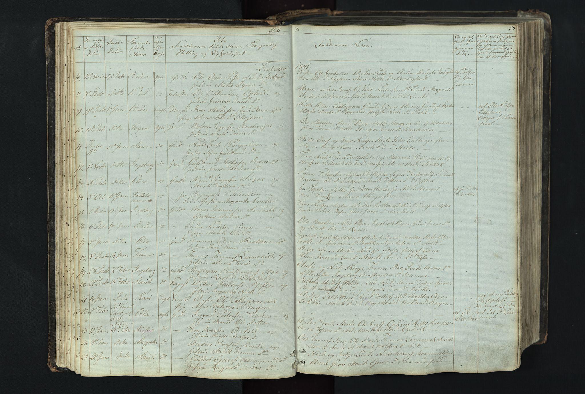 SAH, Vang prestekontor, Valdres, Klokkerbok nr. 4, 1835-1892, s. 28