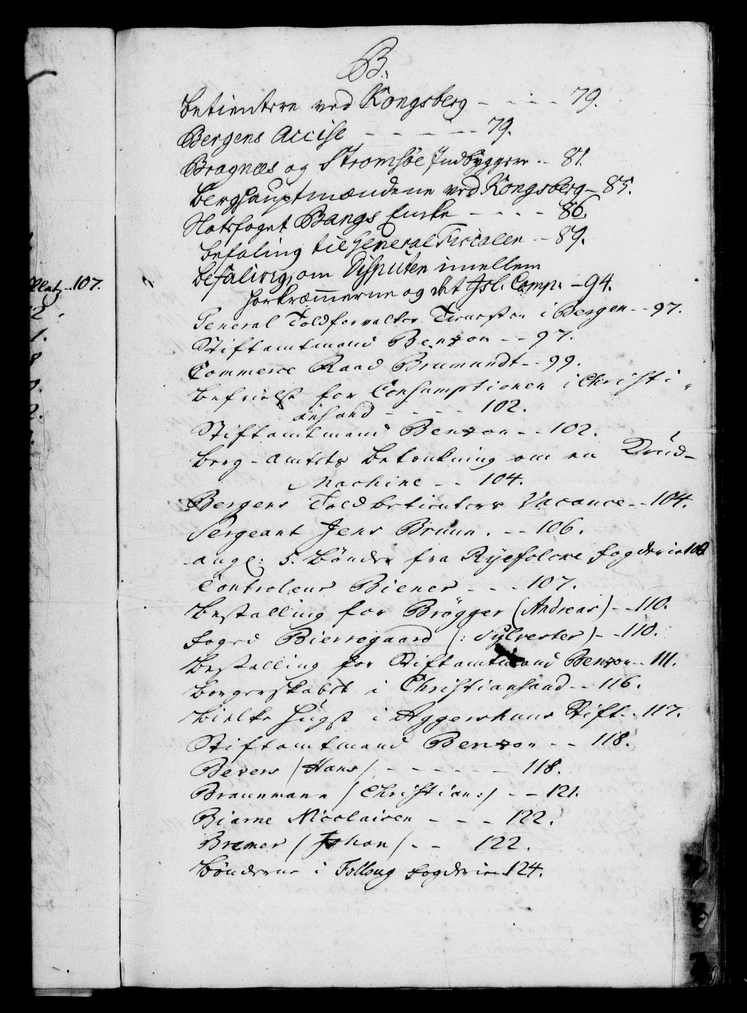 RA, Rentekammeret, Kammerkanselliet, G/Gf/Gfb/L0003: Register til norske relasjons- og resolusjonsprotokoller (merket RK 52.98), 1729-1736, s. upaginert