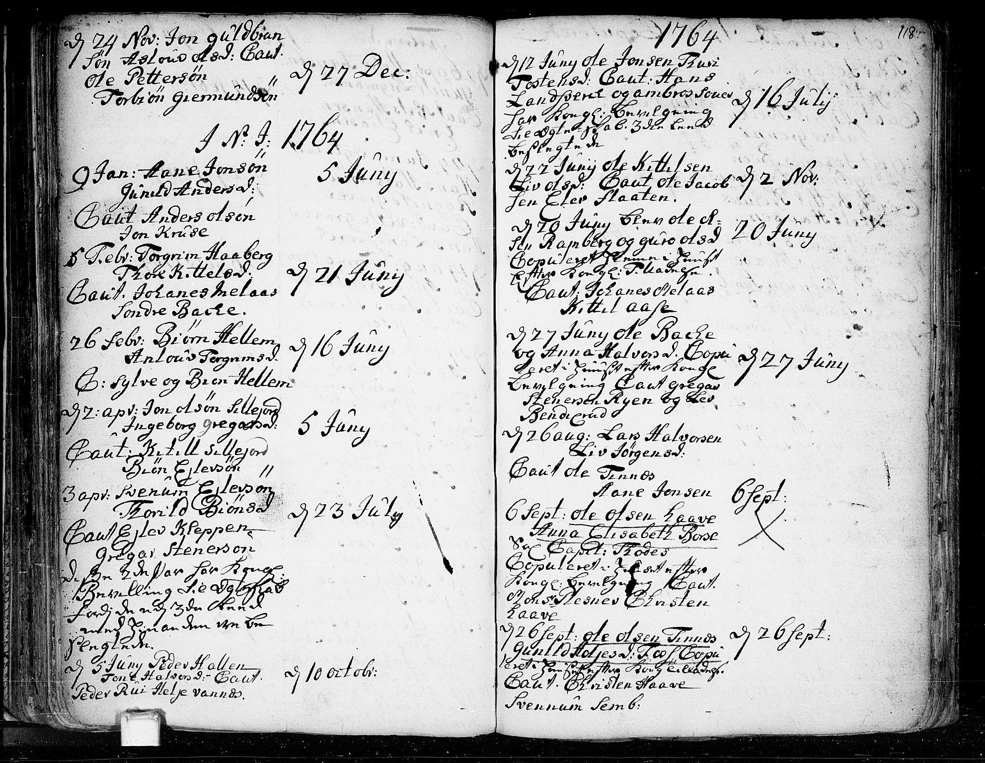 SAKO, Heddal kirkebøker, F/Fa/L0003: Ministerialbok nr. I 3, 1723-1783, s. 118