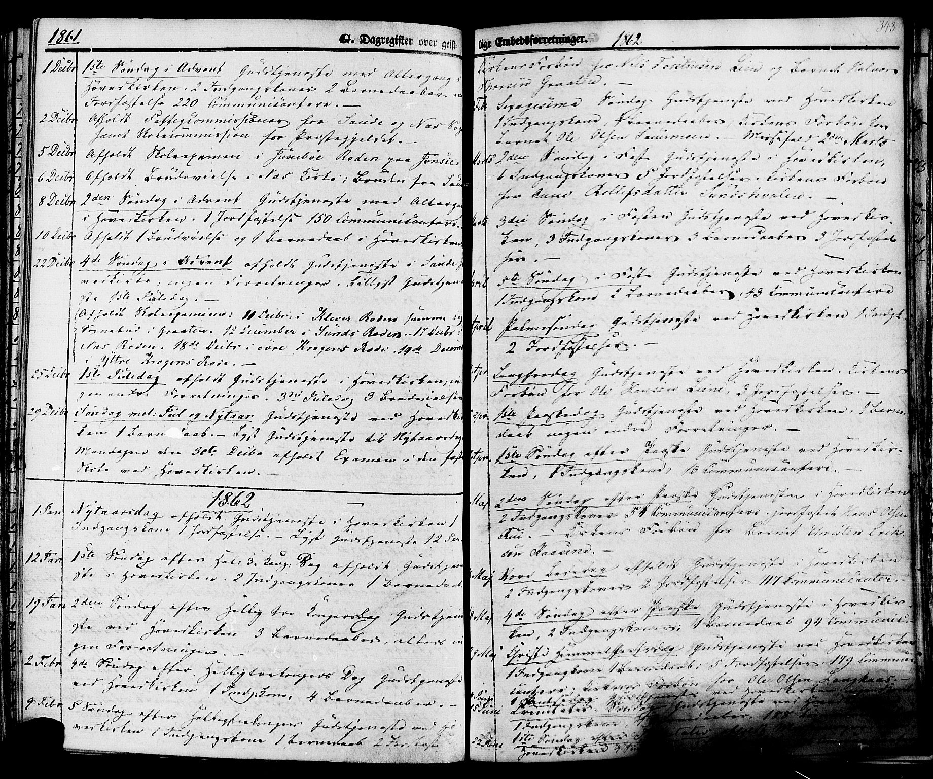 SAKO, Sauherad kirkebøker, F/Fa/L0007: Ministerialbok nr. I 7, 1851-1873, s. 343