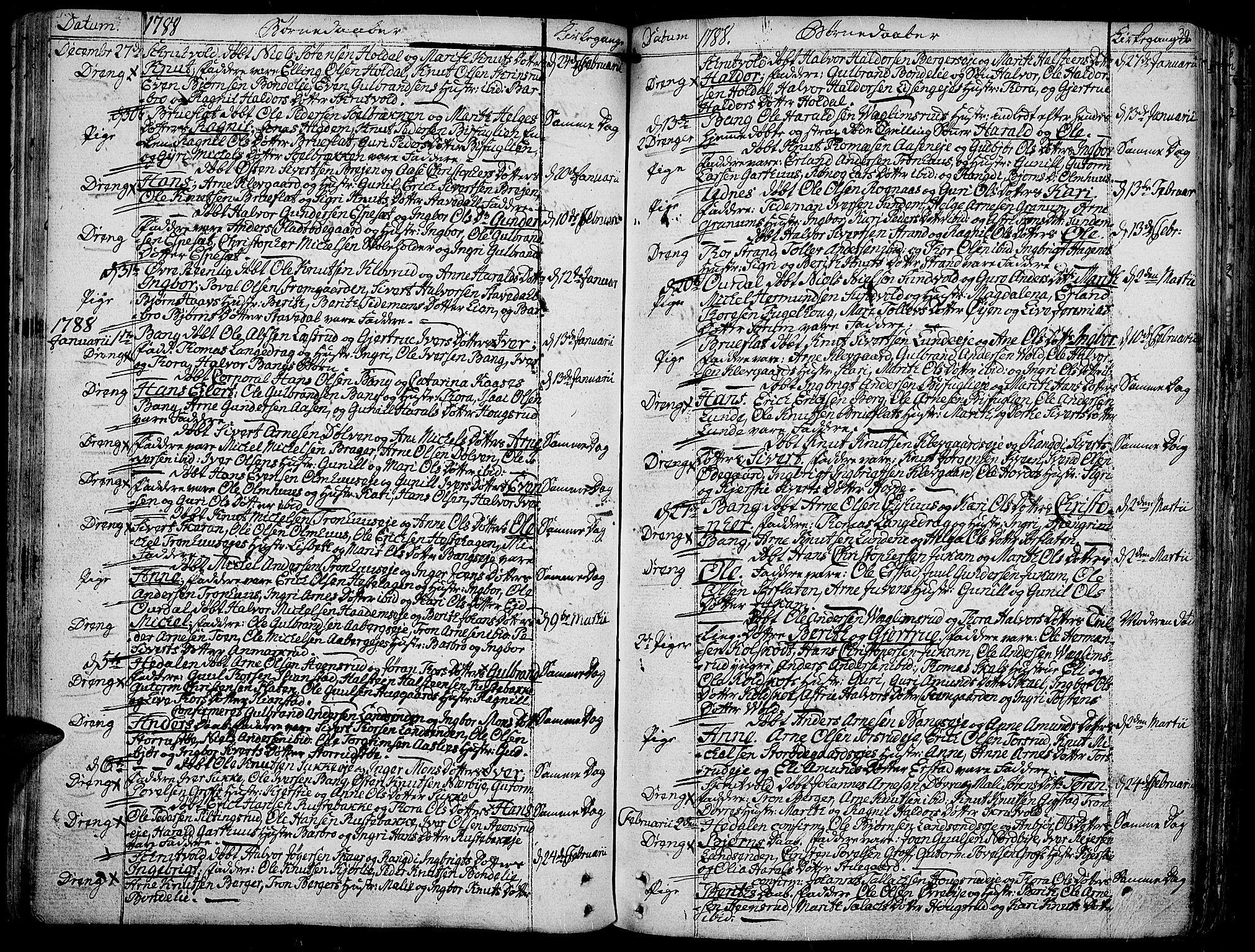 SAH, Aurdal prestekontor, Ministerialbok nr. 6, 1781-1804, s. 39