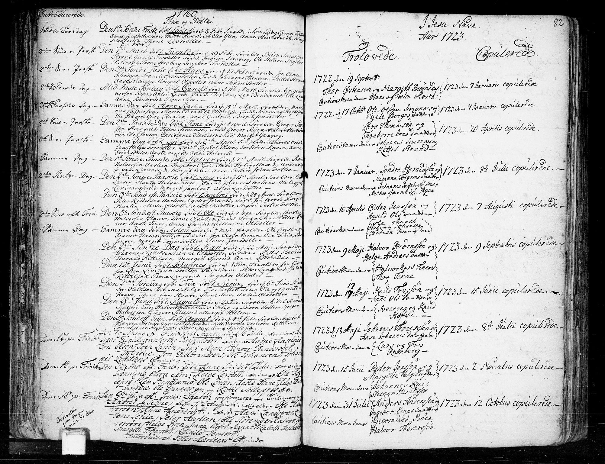 SAKO, Heddal kirkebøker, F/Fa/L0003: Ministerialbok nr. I 3, 1723-1783, s. 82