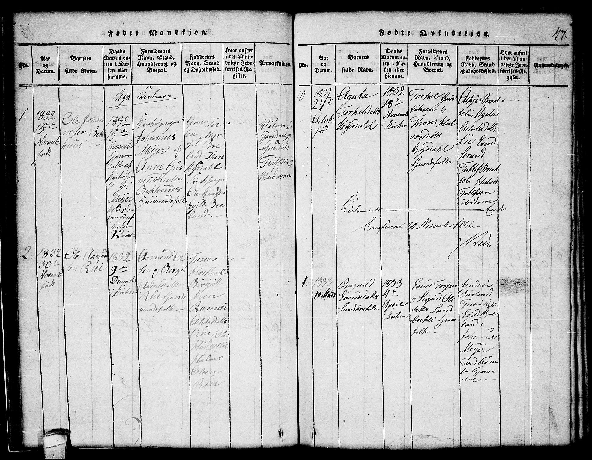 SAKO, Lårdal kirkebøker, G/Gc/L0001: Klokkerbok nr. III 1, 1815-1854, s. 47