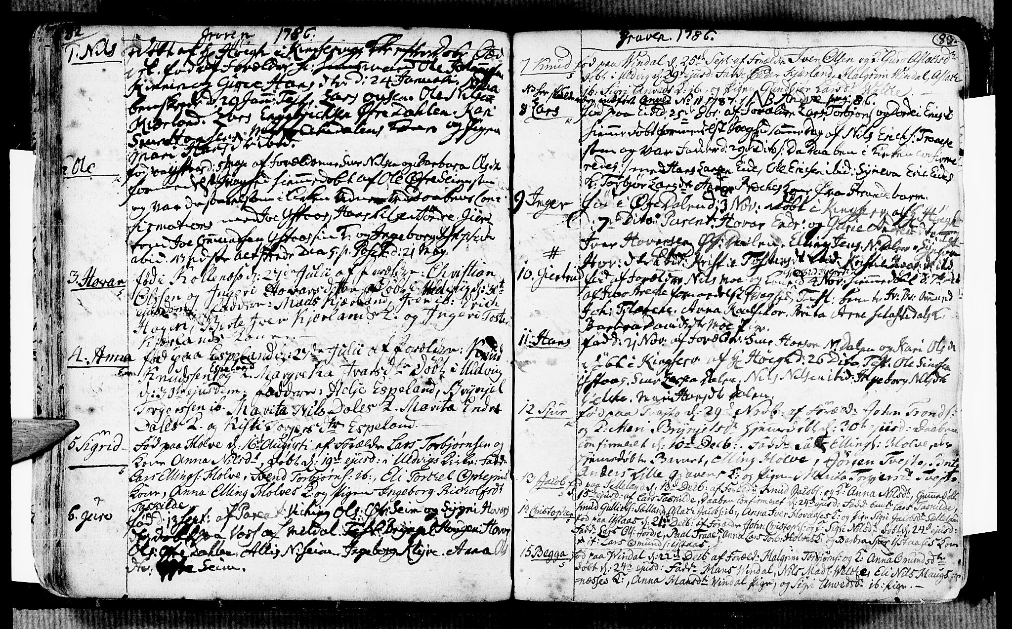 SAB, Ulvik Sokneprestembete, H/Haa: Ministerialbok nr. A 7, 1761-1792, s. 82-83