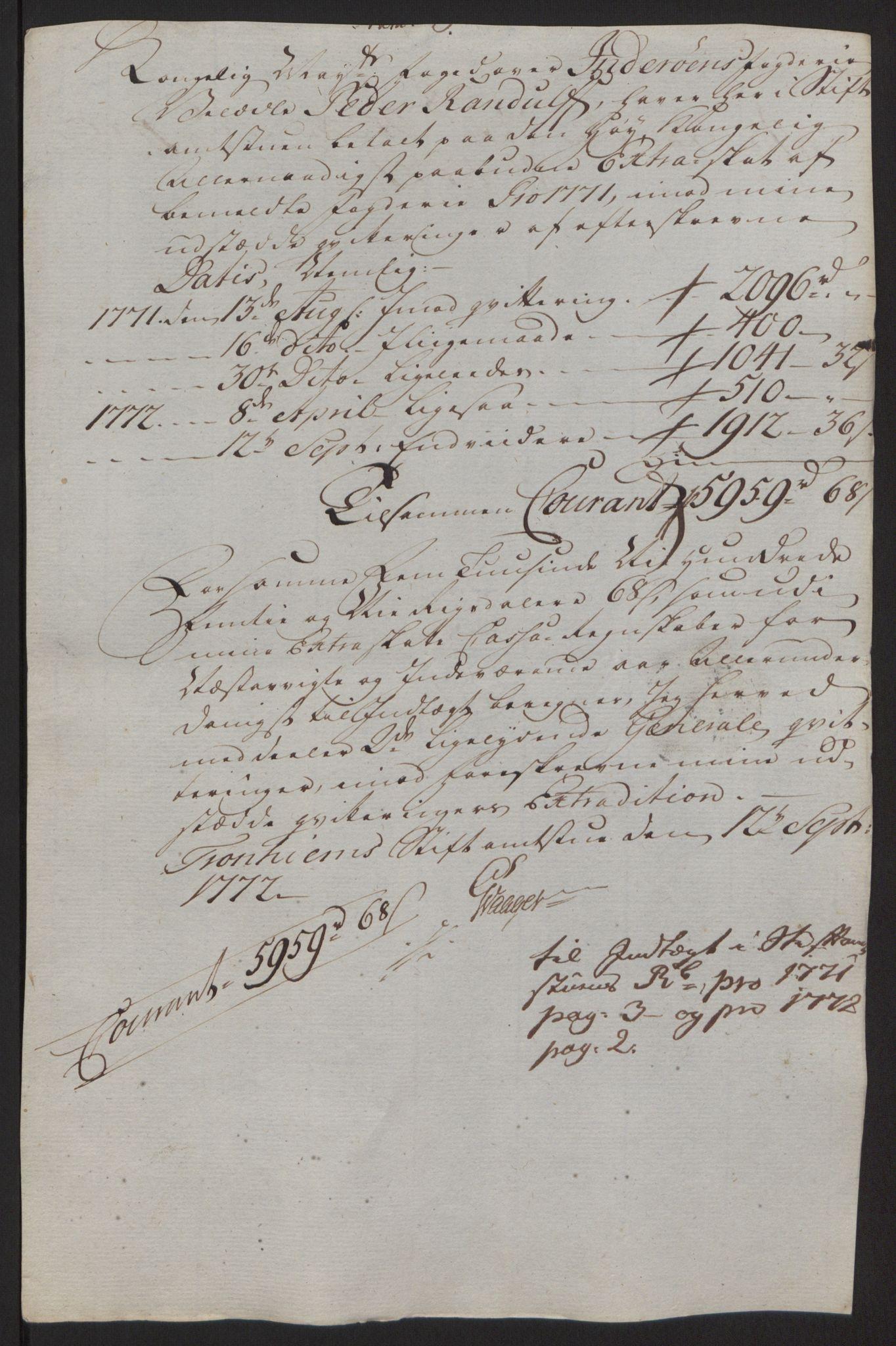 RA, Rentekammeret inntil 1814, Reviderte regnskaper, Fogderegnskap, R63/L4420: Ekstraskatten Inderøy, 1762-1772, s. 441