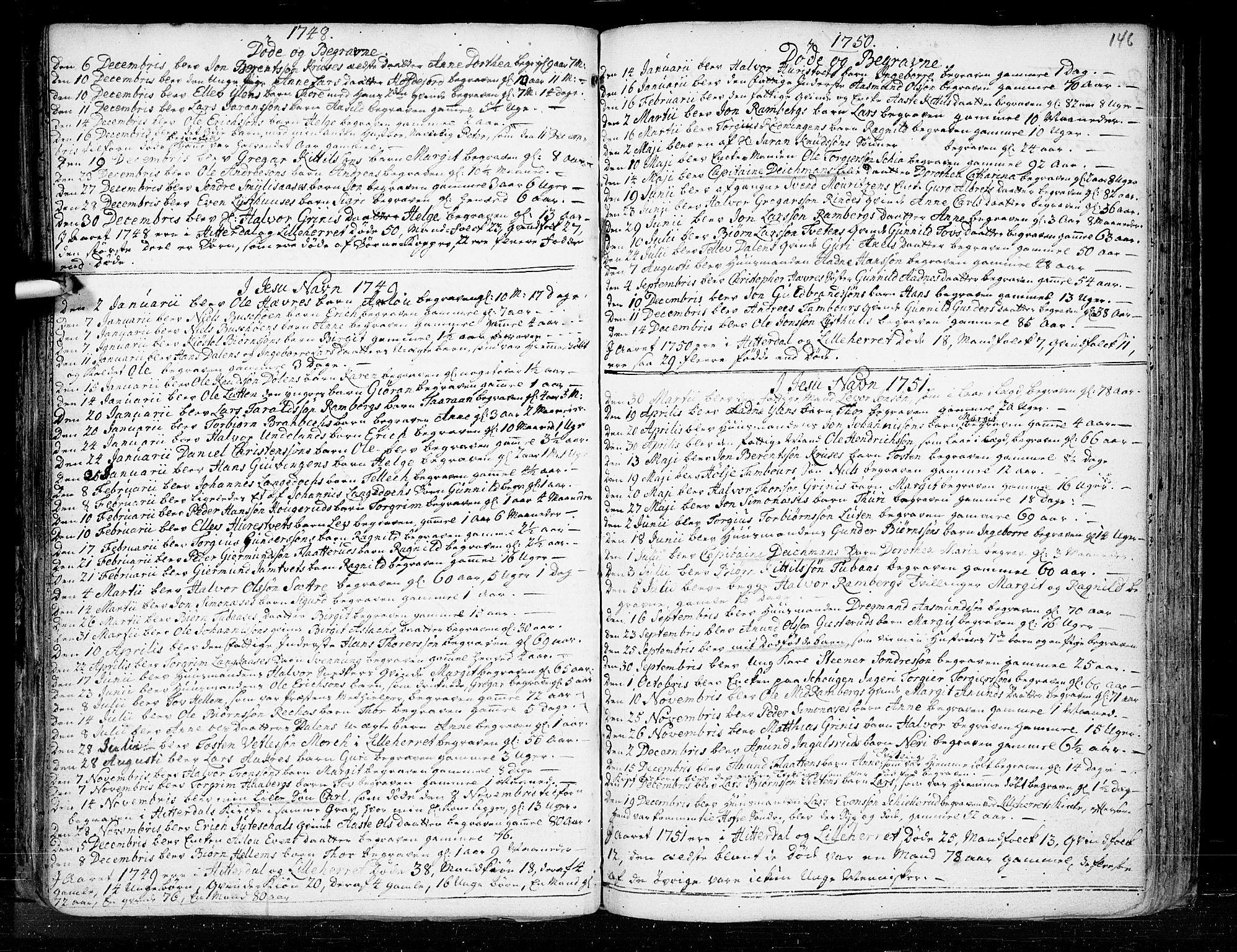 SAKO, Heddal kirkebøker, F/Fa/L0003: Ministerialbok nr. I 3, 1723-1783, s. 146