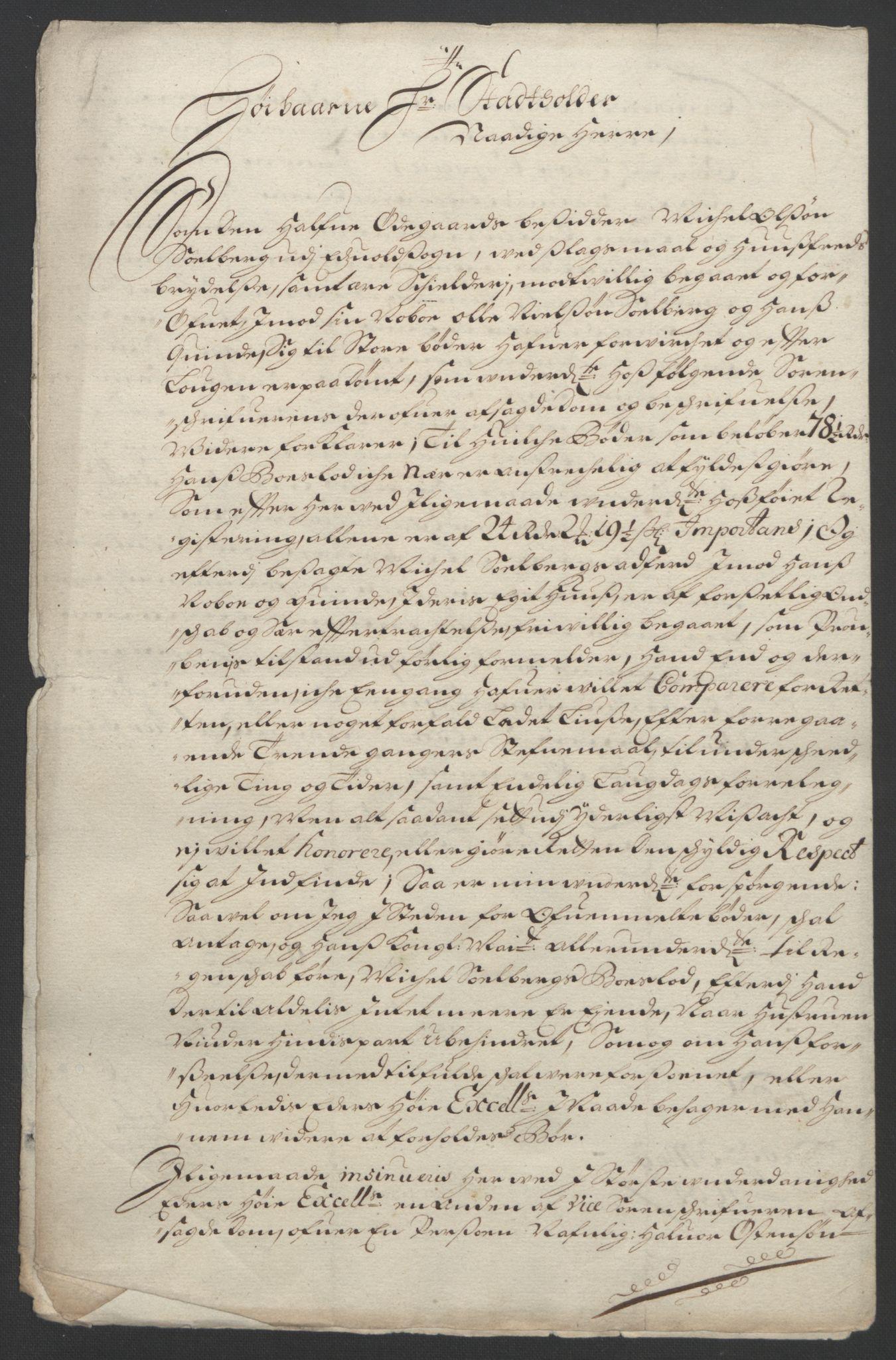 RA, Rentekammeret inntil 1814, Reviderte regnskaper, Fogderegnskap, R12/L0706: Fogderegnskap Øvre Romerike, 1694, s. 269