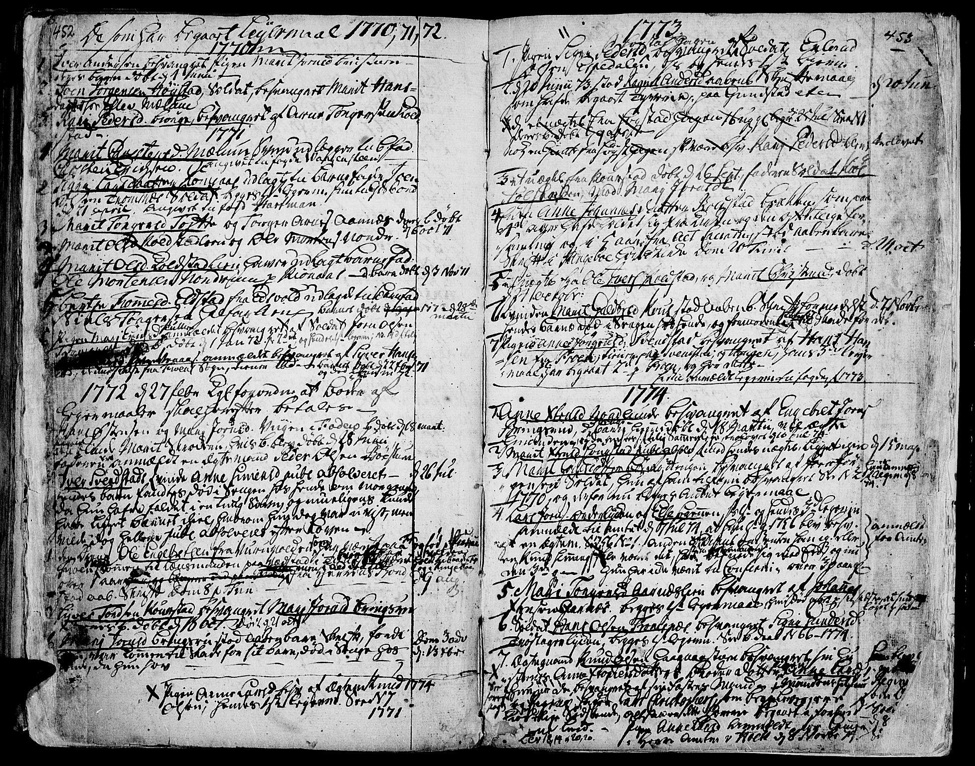 SAH, Ringebu prestekontor, Ministerialbok nr. 2, 1734-1780, s. 452-453