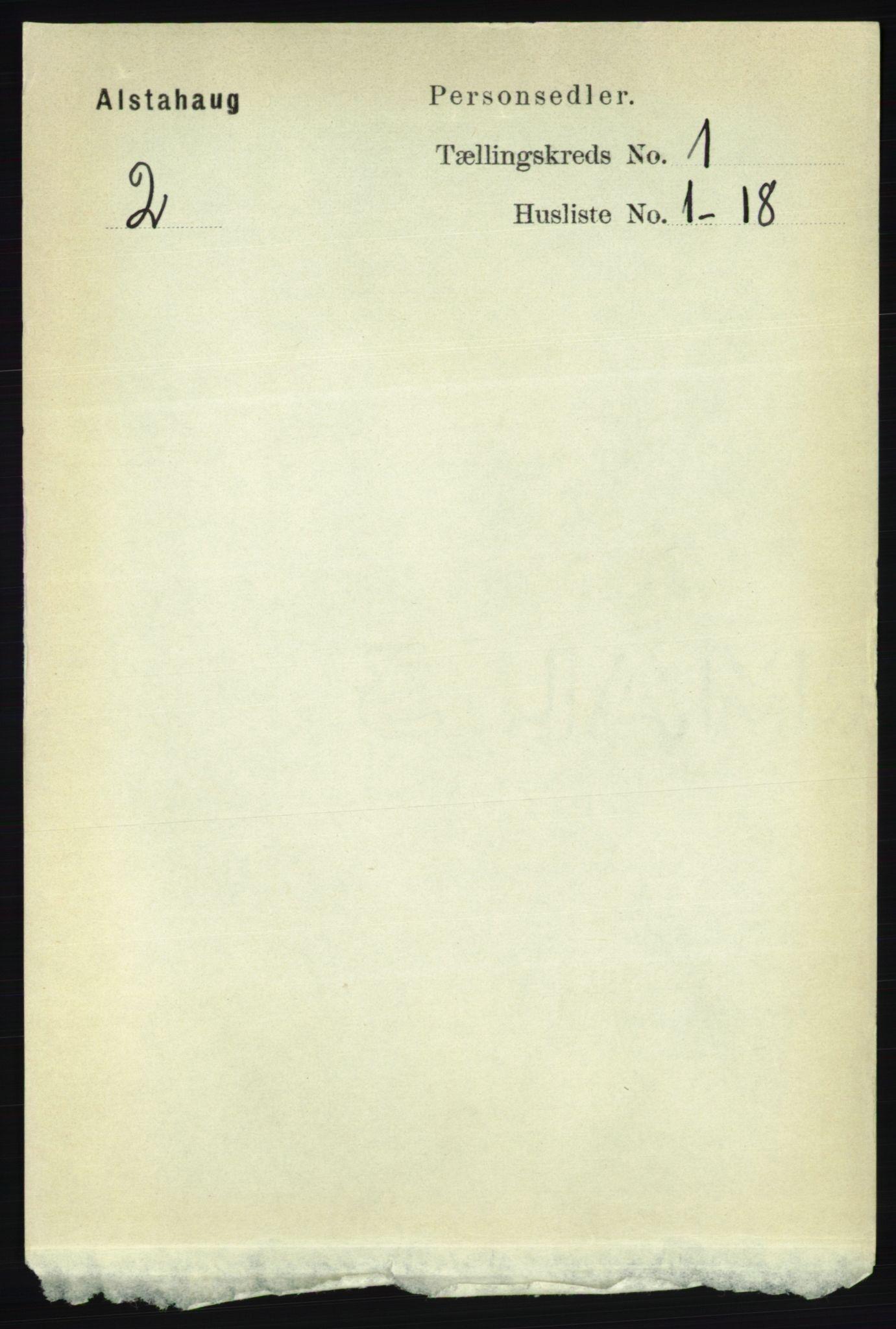 RA, Folketelling 1891 for 1820 Alstahaug herred, 1891, s. 95
