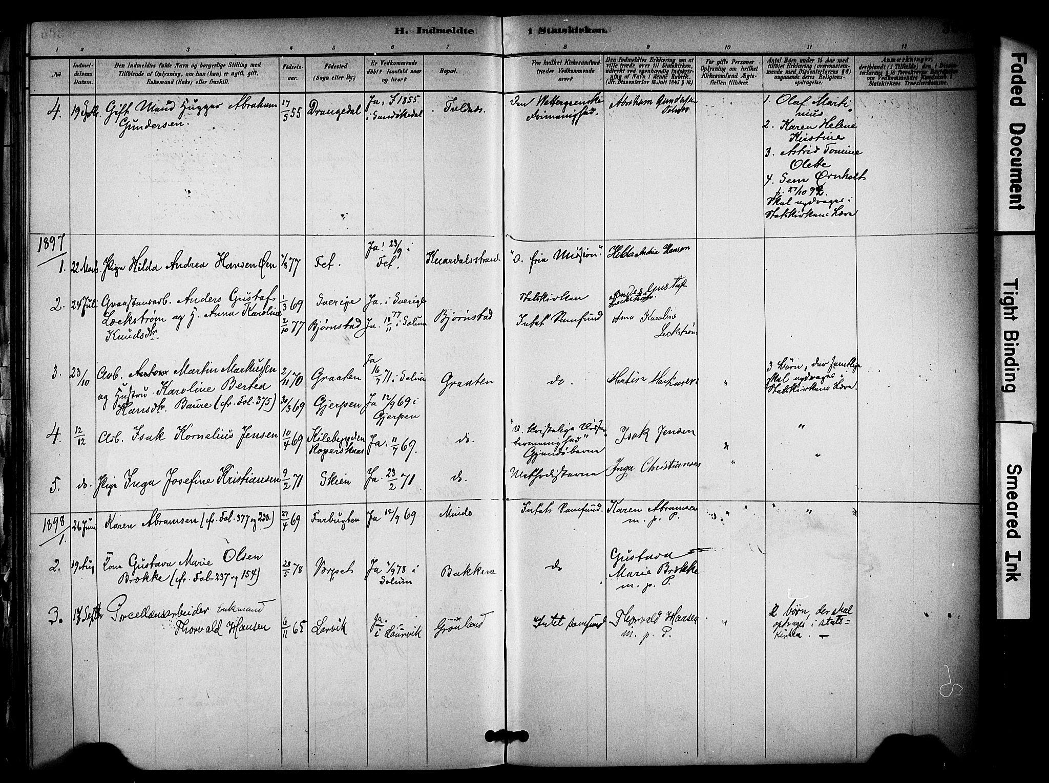 SAKO, Solum kirkebøker, F/Fa/L0010: Ministerialbok nr. I 10, 1888-1898, s. 366