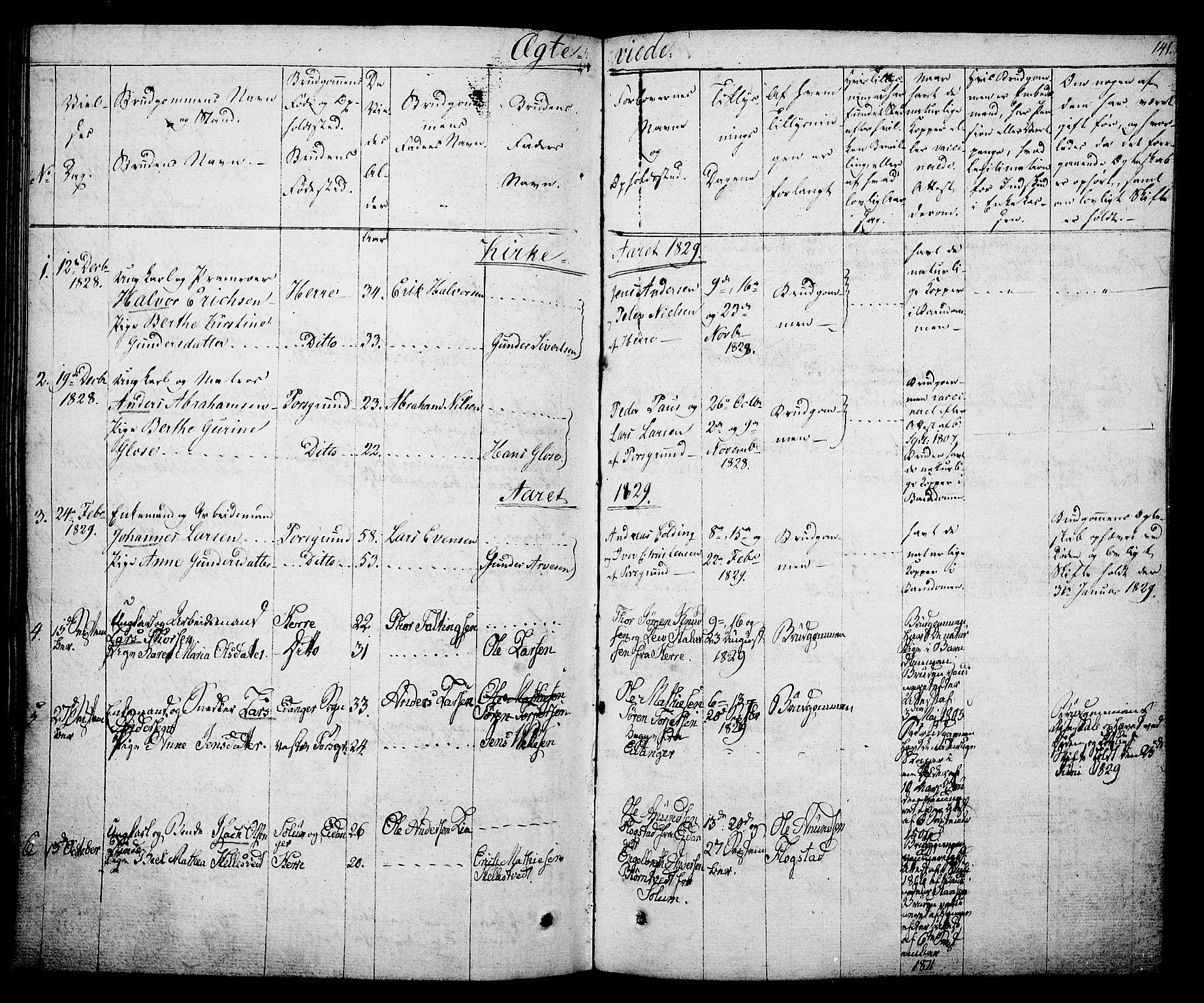 SAKO, Porsgrunn kirkebøker , F/Fa/L0005: Ministerialbok nr. 5, 1828-1840, s. 141