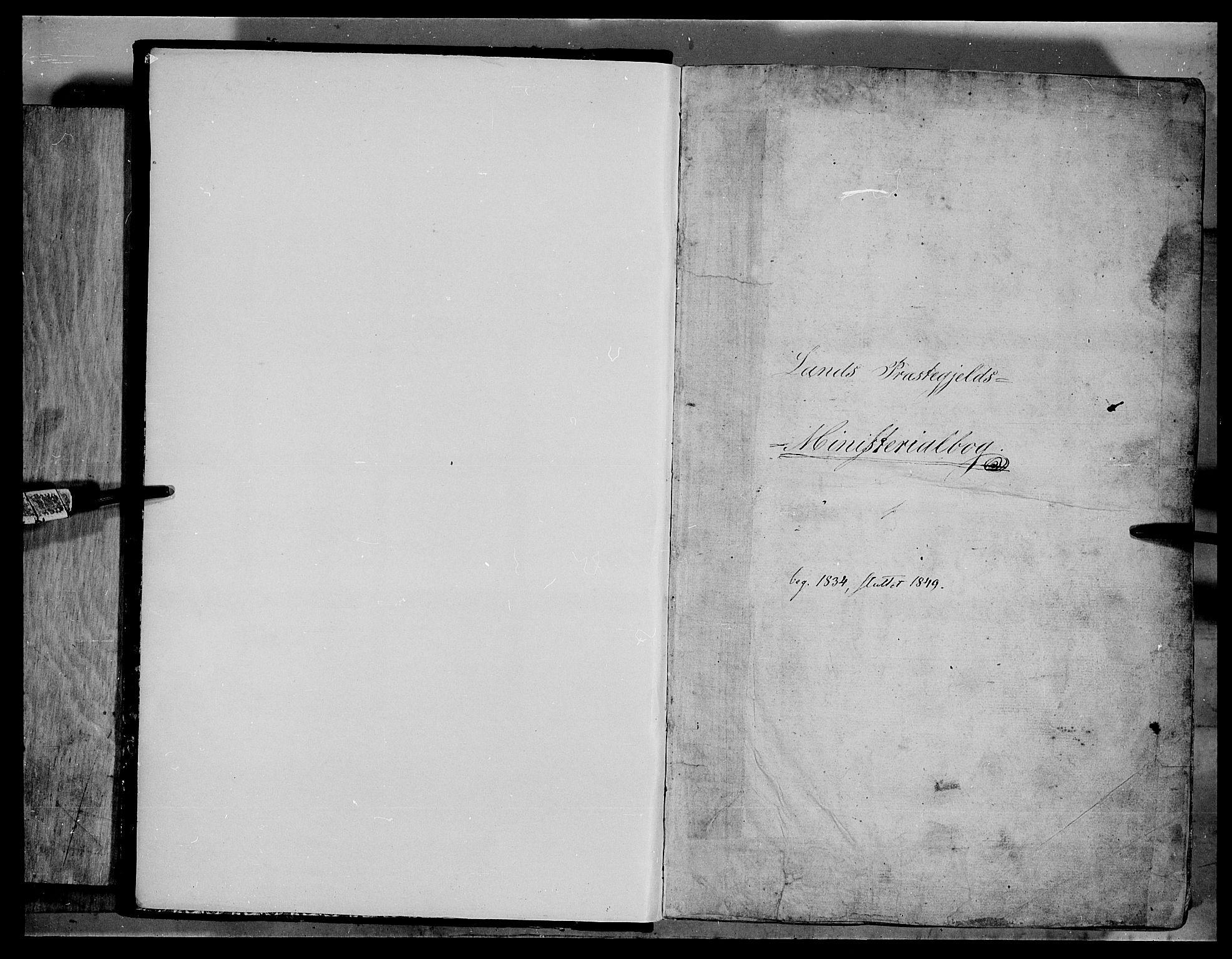 SAH, Land prestekontor, Klokkerbok nr. 2, 1833-1849