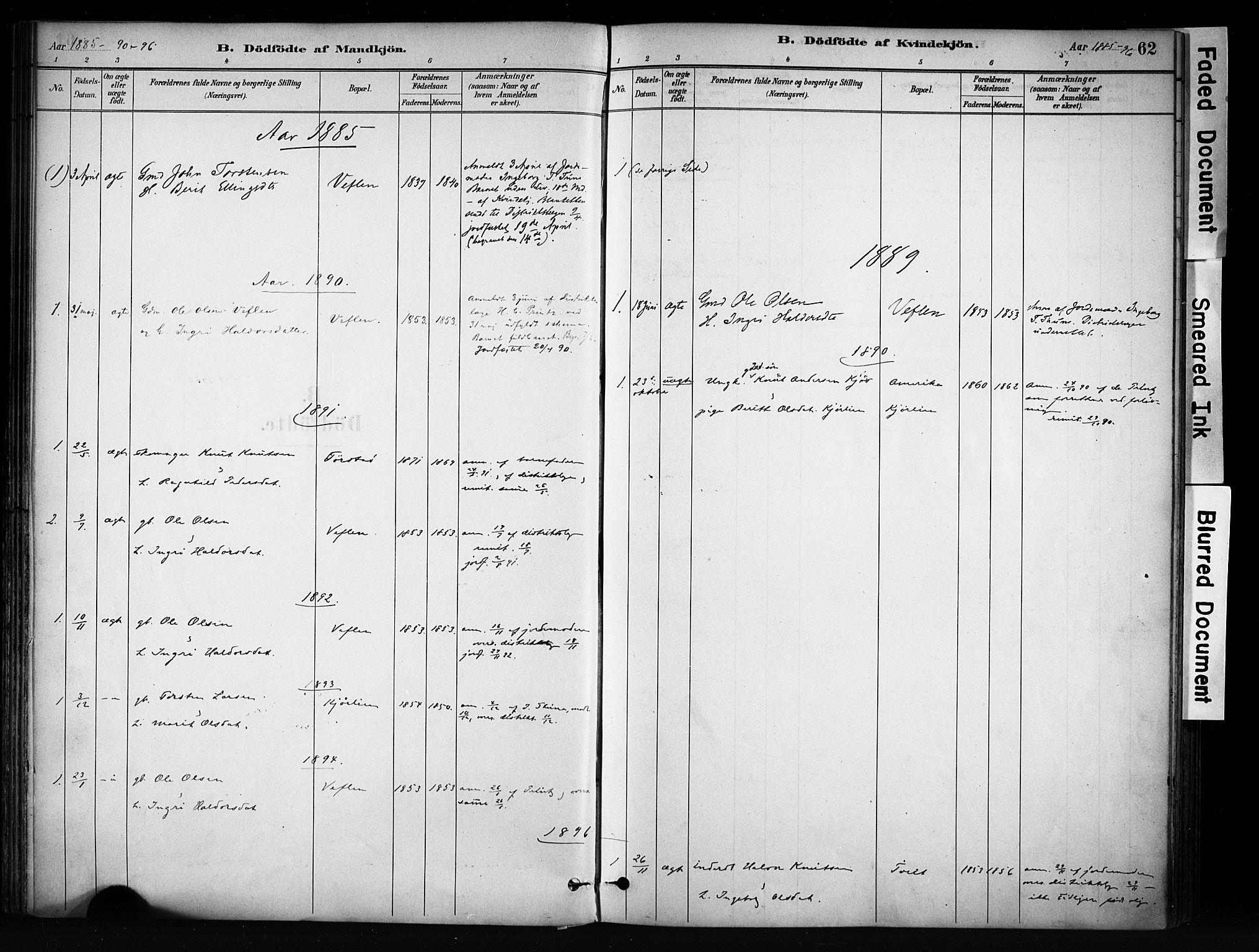 SAH, Vang prestekontor, Valdres, Ministerialbok nr. 9, 1882-1914, s. 62