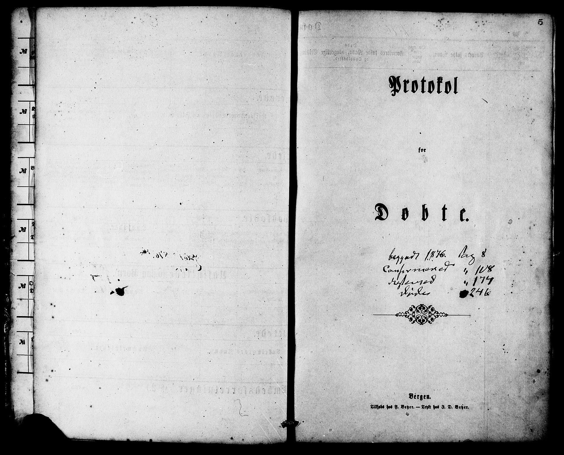 SAT, Ministerialprotokoller, klokkerbøker og fødselsregistre - Møre og Romsdal, 537/L0519: Ministerialbok nr. 537A03, 1876-1889, s. 5