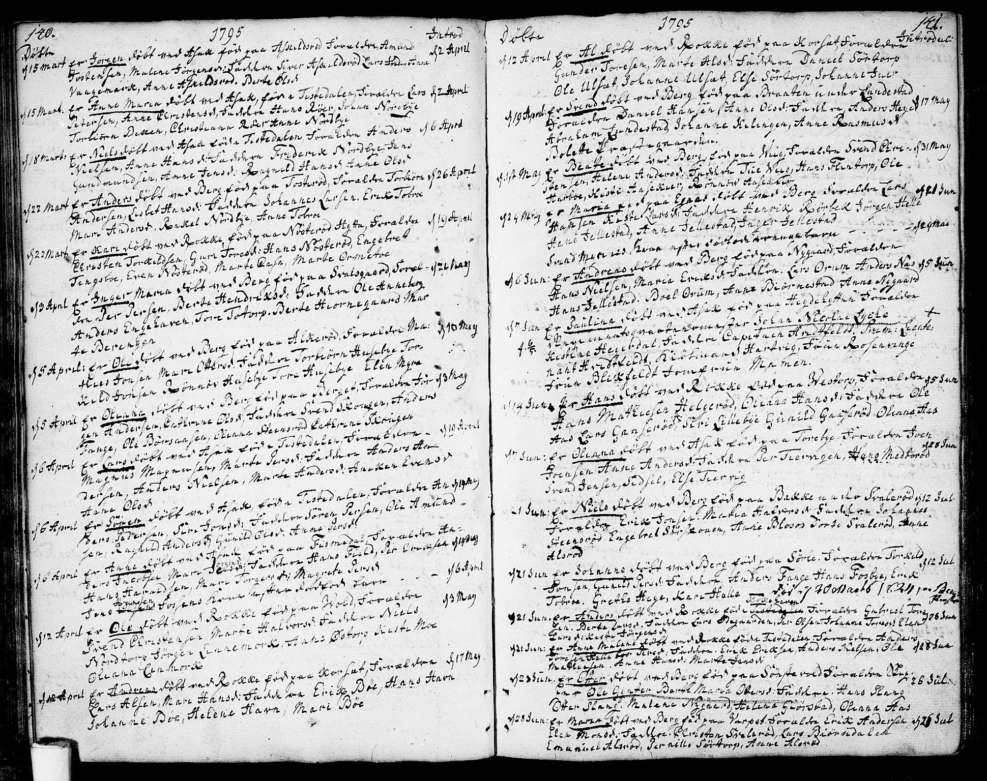 SAO, Berg prestekontor Kirkebøker, F/Fa/L0001: Ministerialbok nr. I 1, 1770-1814, s. 140-141