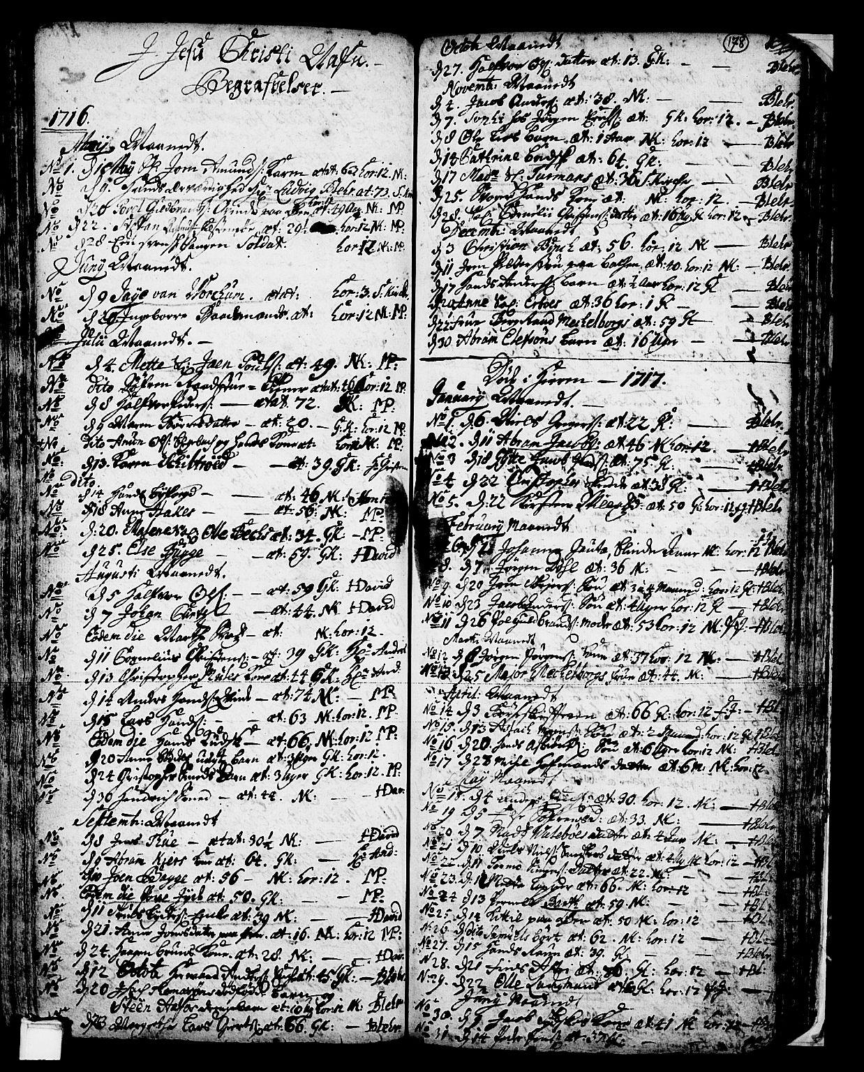 SAKO, Skien kirkebøker, F/Fa/L0002: Ministerialbok nr. 2, 1716-1757, s. 178