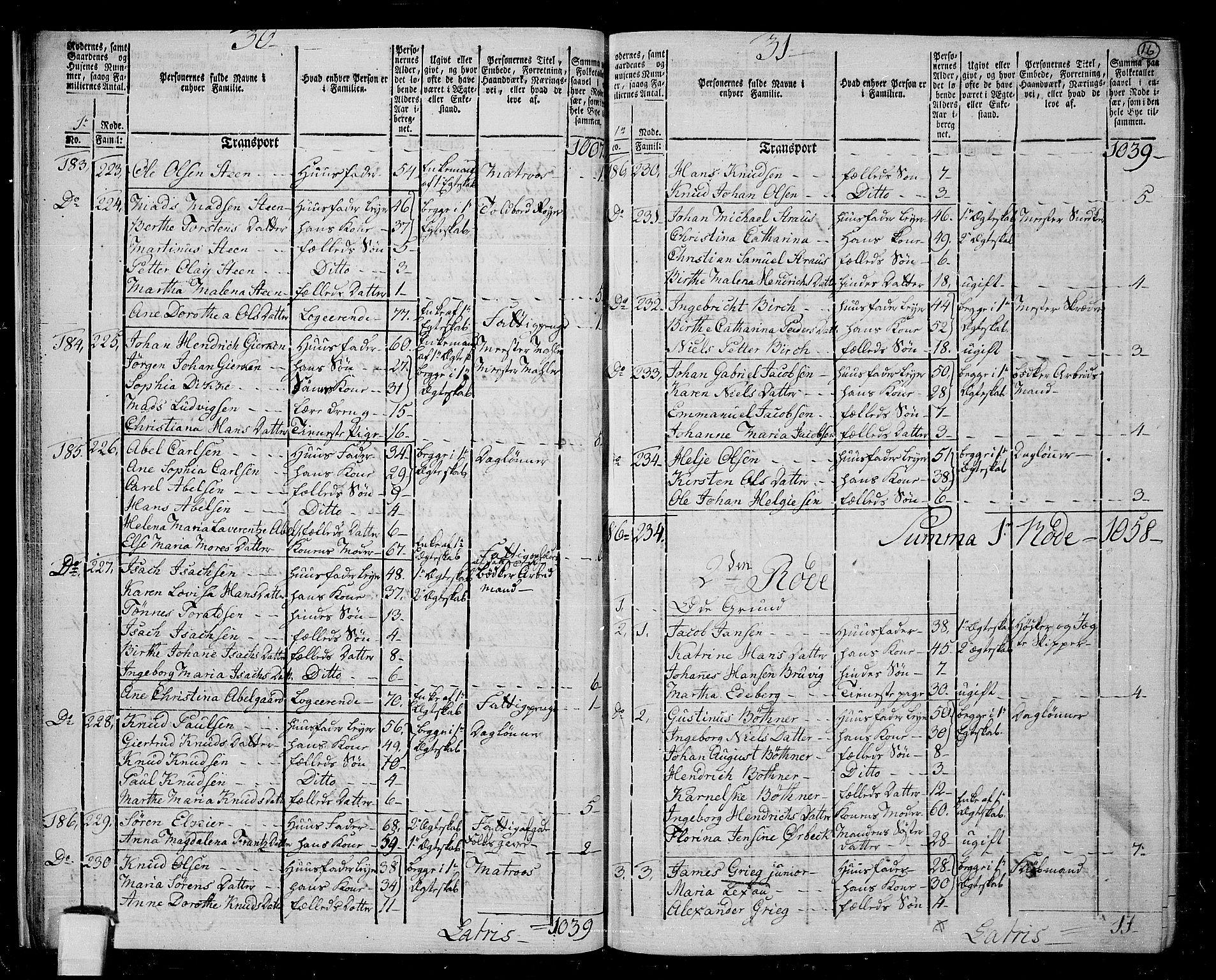 RA, Folketelling 1801 for 1301 Bergen kjøpstad, 1801, s. 15b-16a