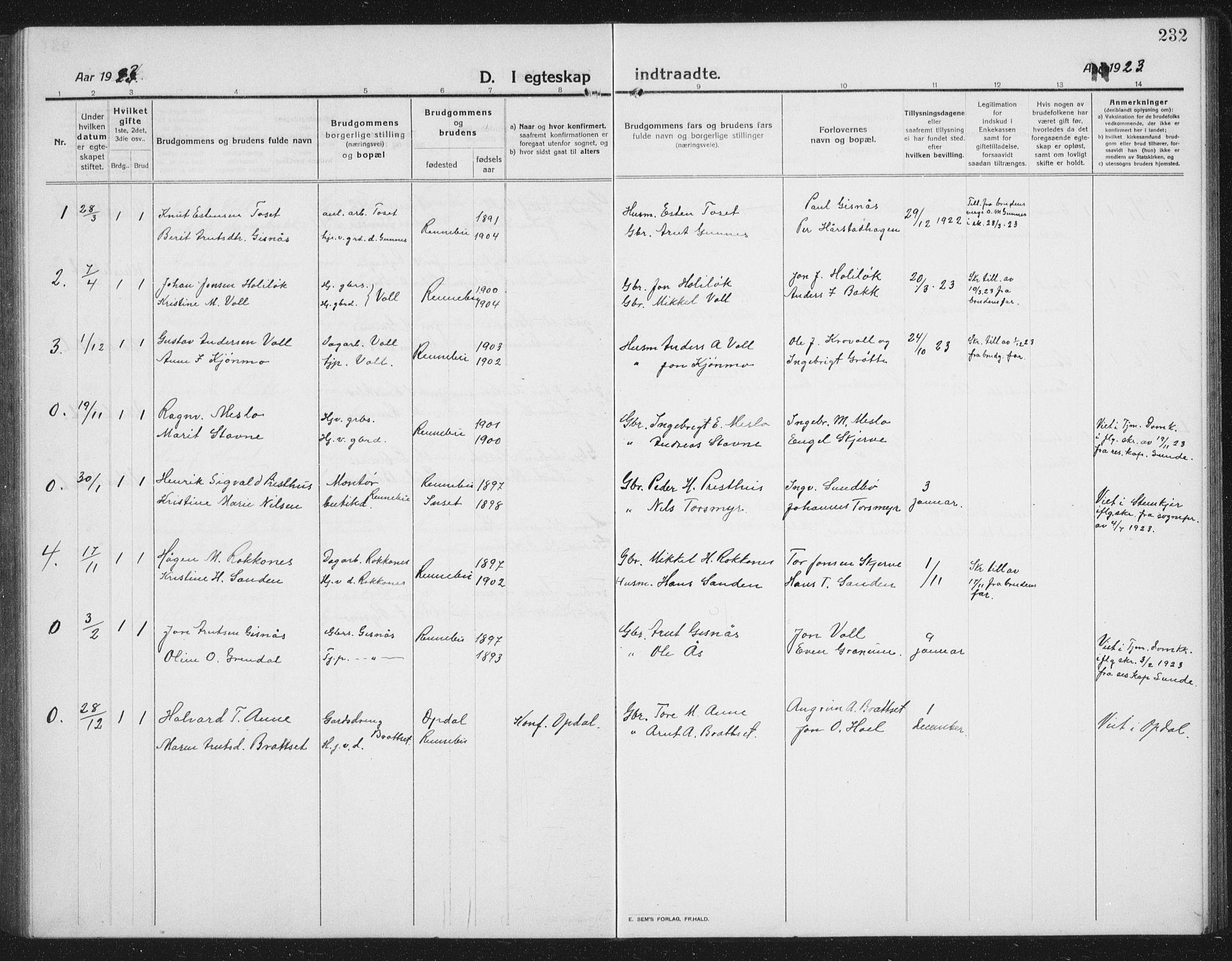 SAT, Ministerialprotokoller, klokkerbøker og fødselsregistre - Sør-Trøndelag, 674/L0877: Klokkerbok nr. 674C04, 1913-1940, s. 232