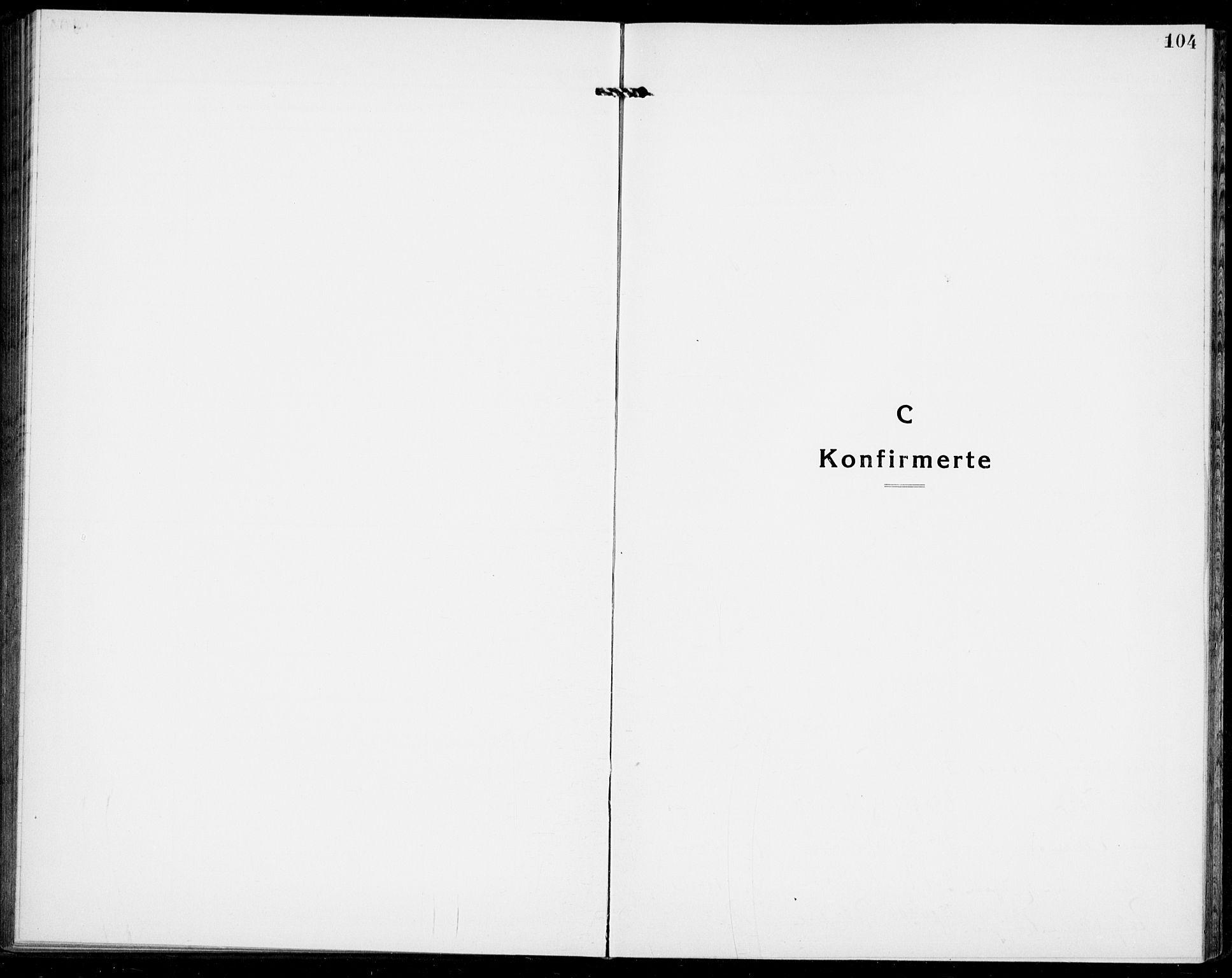 SAKO, Modum kirkebøker, G/Ga/L0012: Klokkerbok nr. I 12, 1923-1933, s. 104