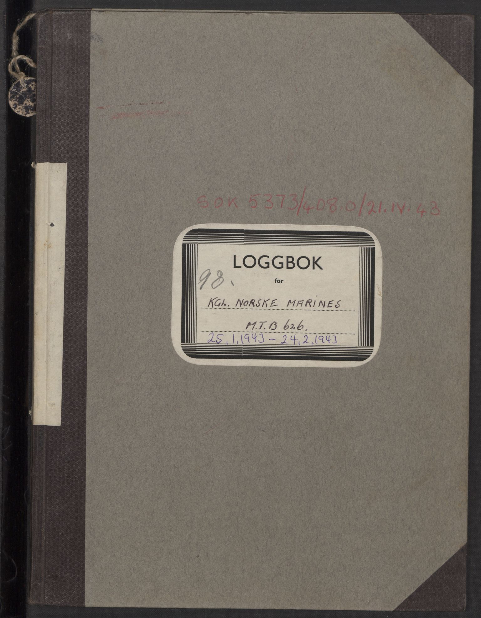 RA, Forsvaret, Sjøforsvarets fartøyer, Gm6/L0002: Loggbok, 1943