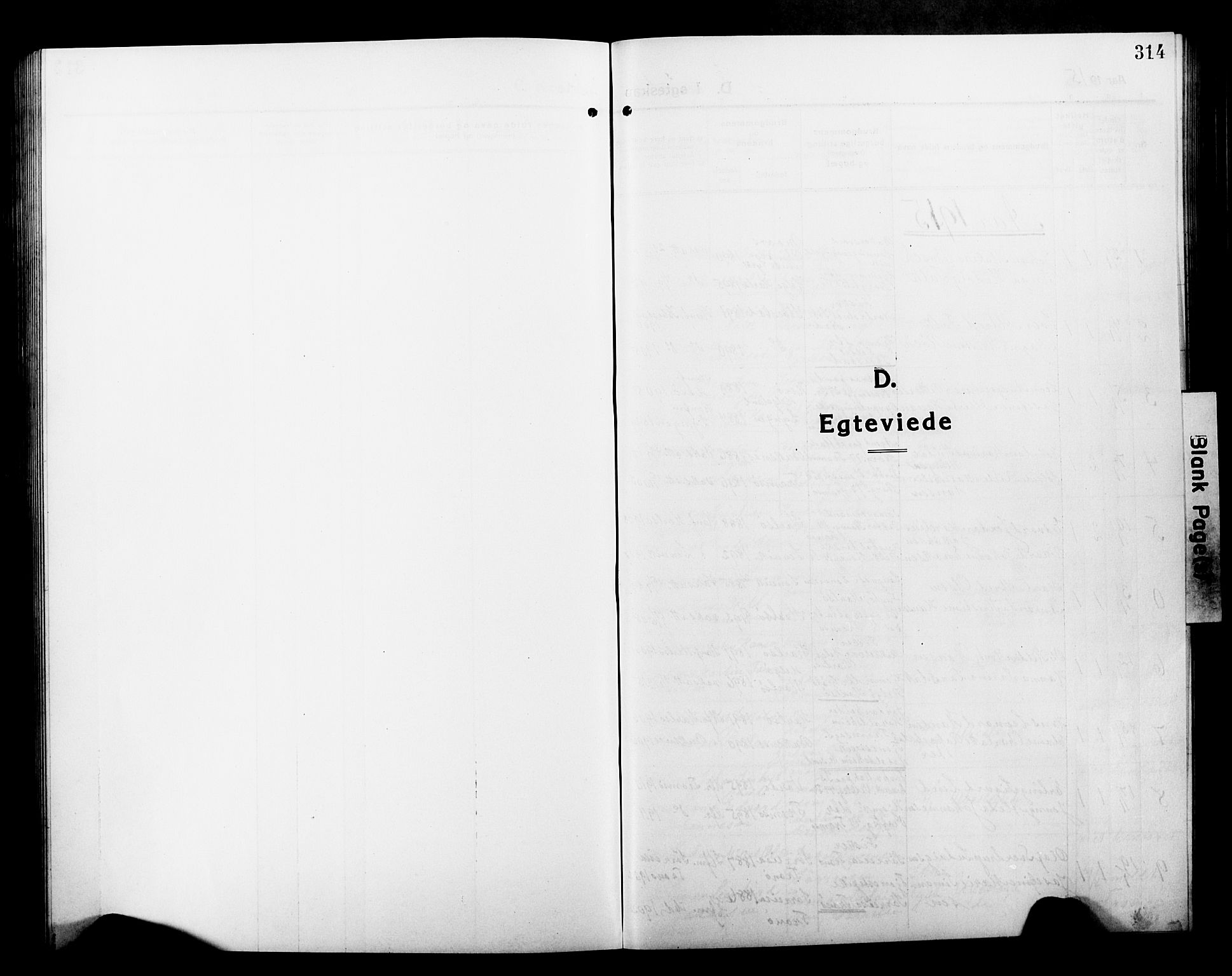 SATØ, Tromsø sokneprestkontor/stiftsprosti/domprosti, G/Gb/L0009klokker: Klokkerbok nr. 9, 1915-1925, s. 314