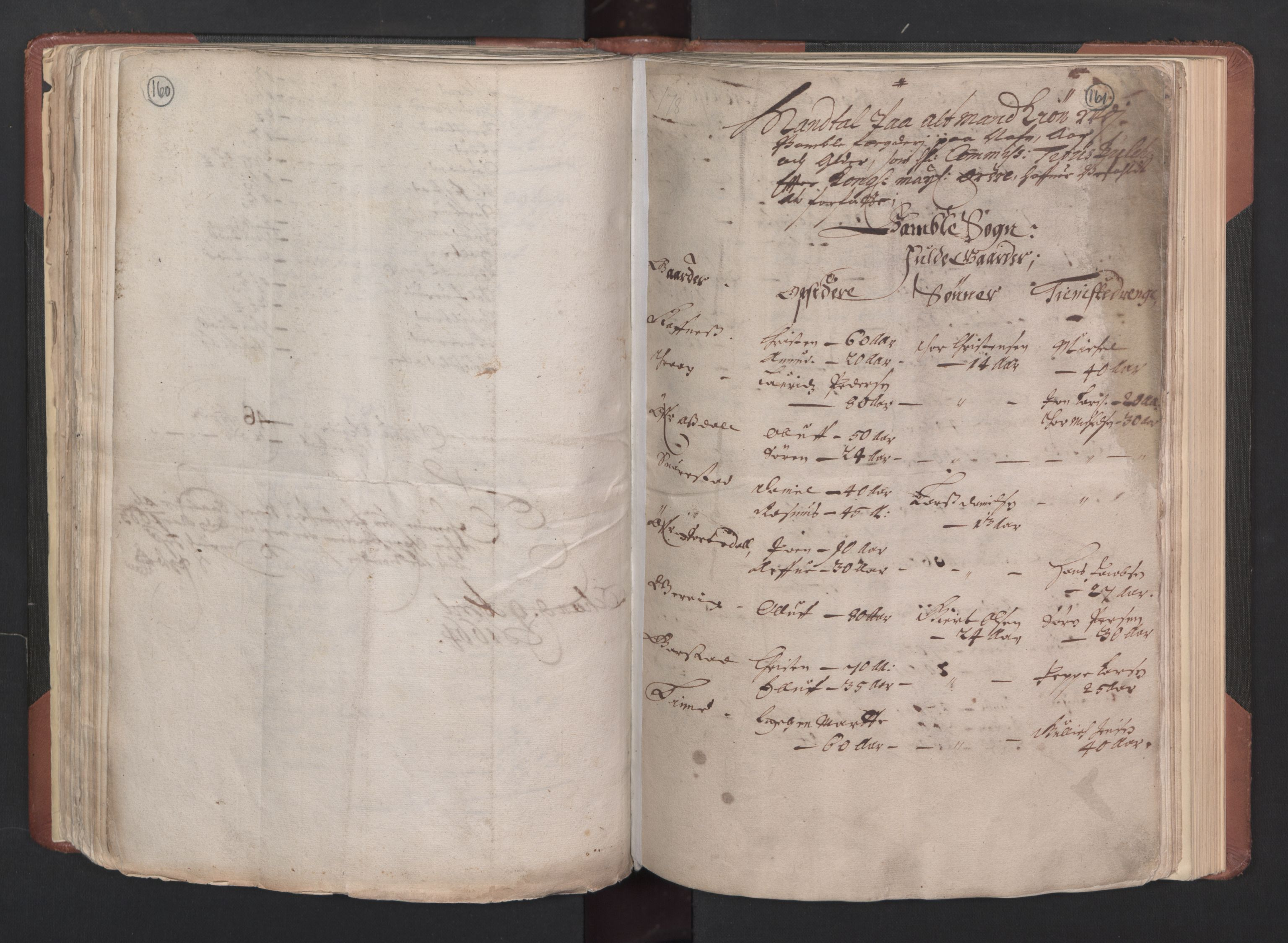 RA, Fogdenes og sorenskrivernes manntall 1664-1666, nr. 6: Øvre og Nedre Telemark fogderi og Bamble fogderi , 1664, s. 160-161