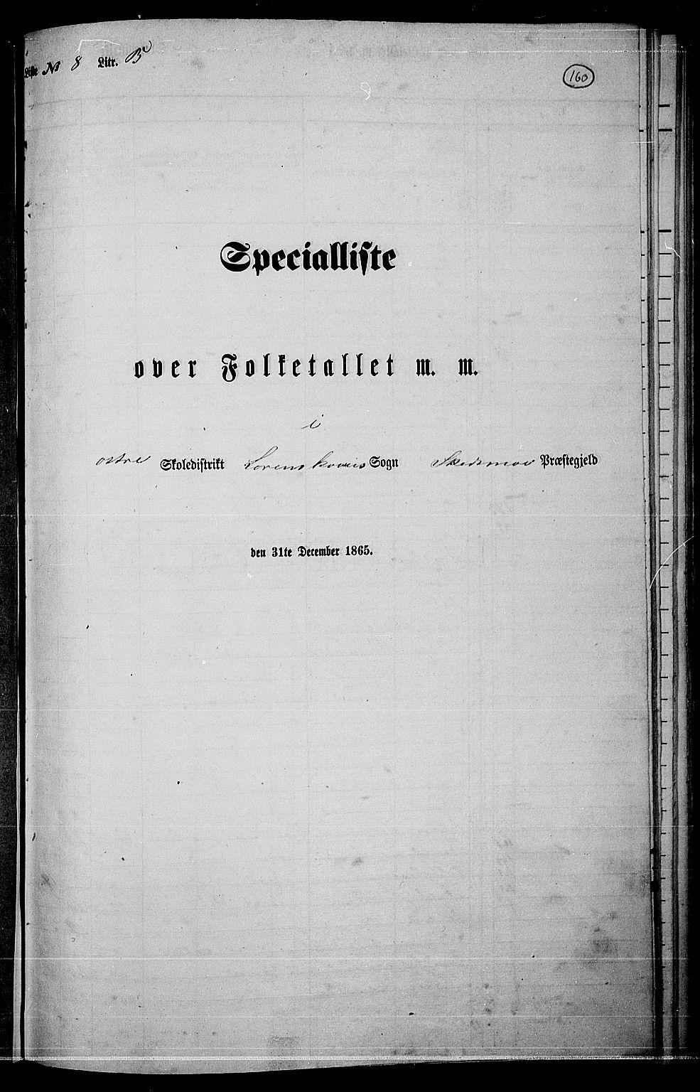 RA, Folketelling 1865 for 0231P Skedsmo prestegjeld, 1865, s. 143