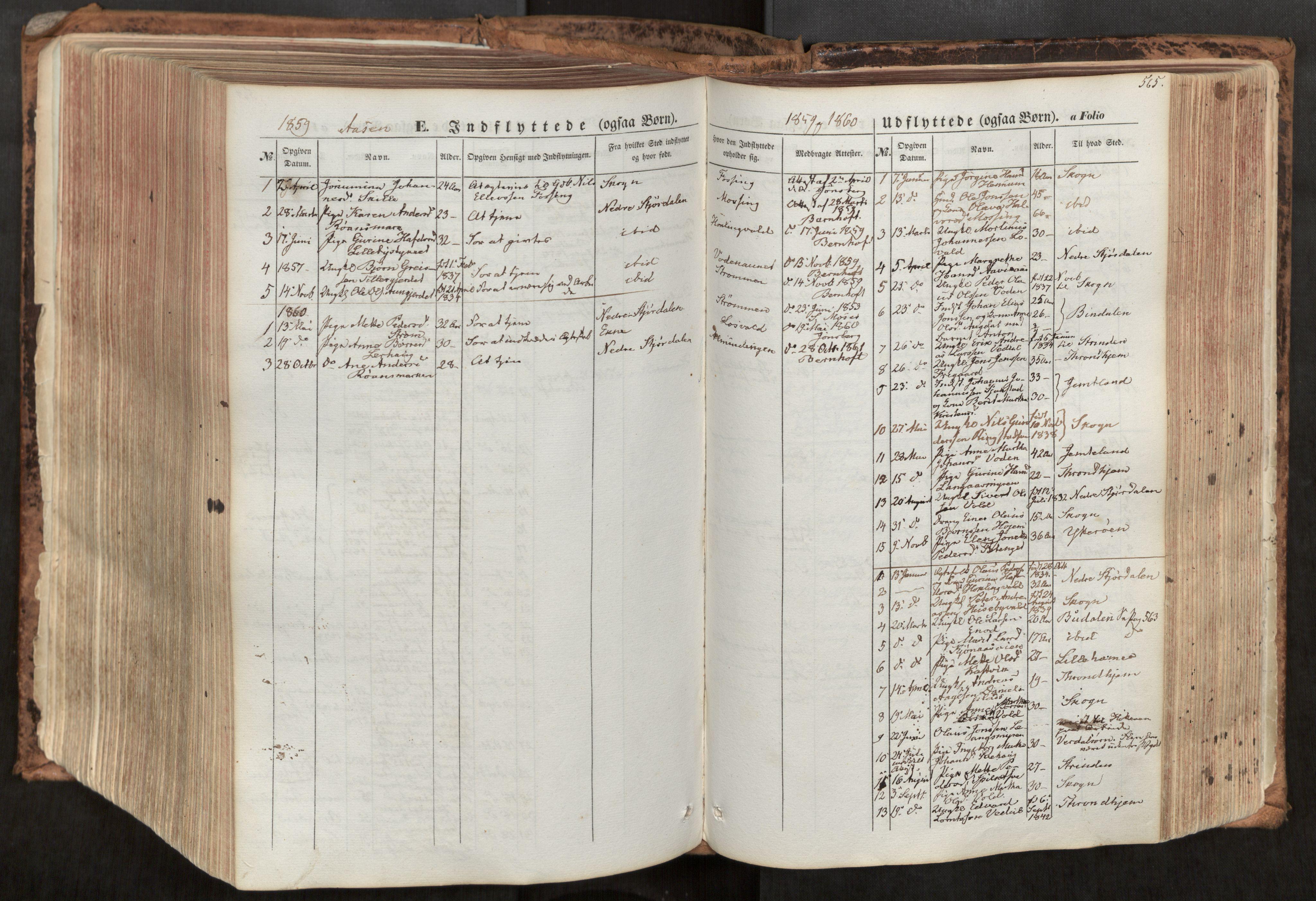 SAT, Ministerialprotokoller, klokkerbøker og fødselsregistre - Nord-Trøndelag, 713/L0116: Ministerialbok nr. 713A07, 1850-1877, s. 565