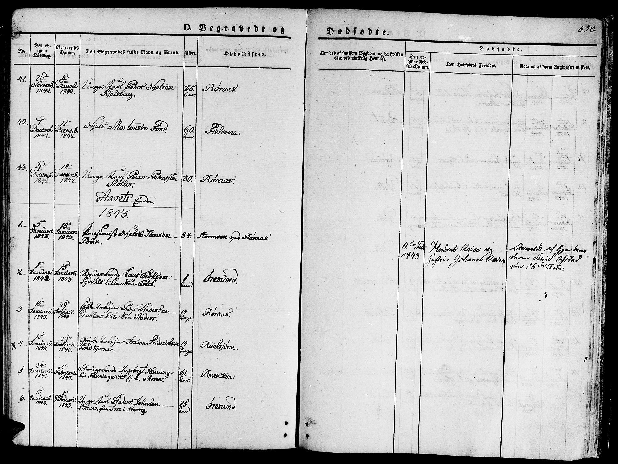 SAT, Ministerialprotokoller, klokkerbøker og fødselsregistre - Sør-Trøndelag, 681/L0930: Ministerialbok nr. 681A08, 1829-1844, s. 650