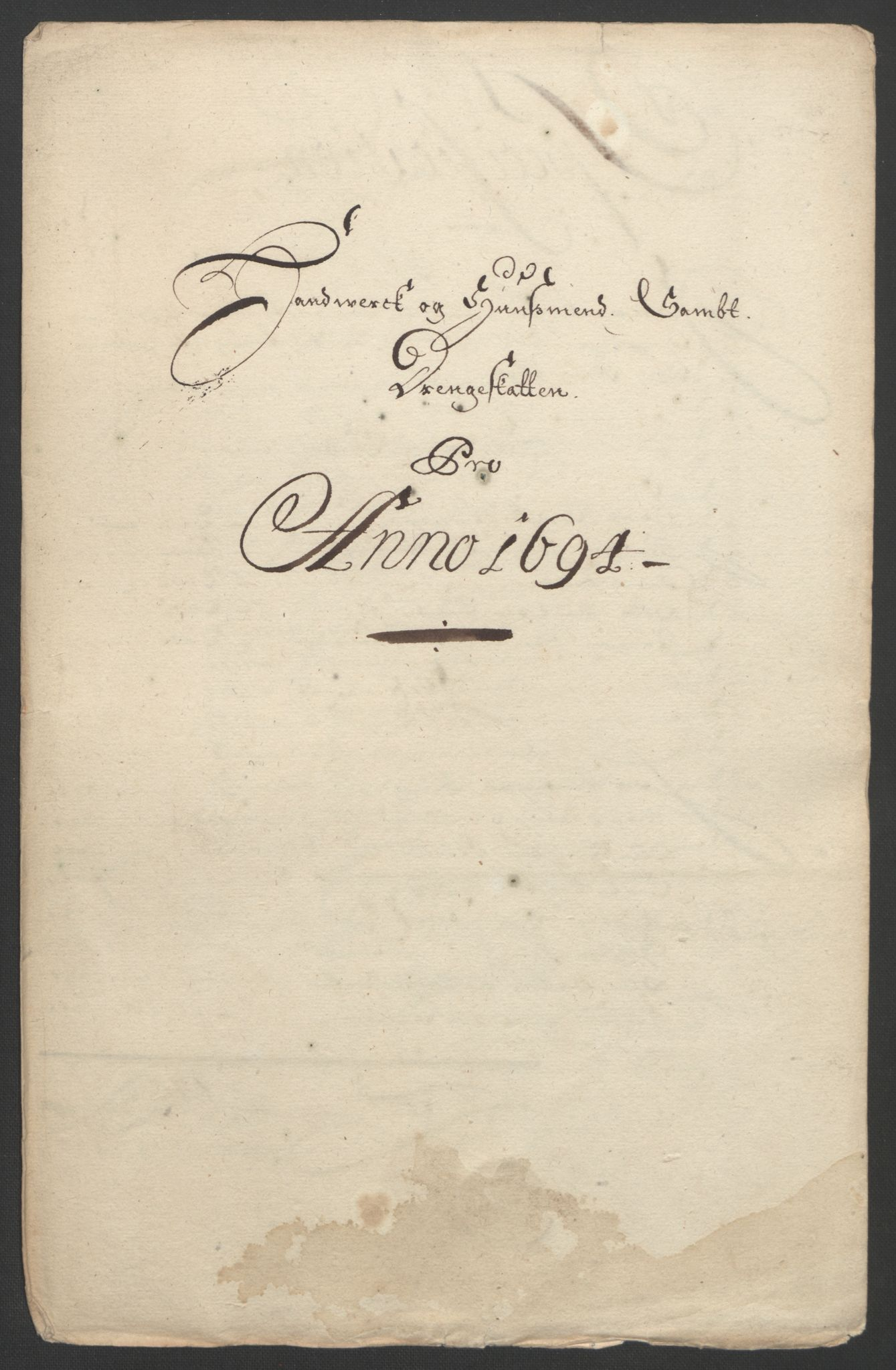 RA, Rentekammeret inntil 1814, Reviderte regnskaper, Fogderegnskap, R22/L1451: Fogderegnskap Ringerike, Hallingdal og Buskerud, 1694, s. 228