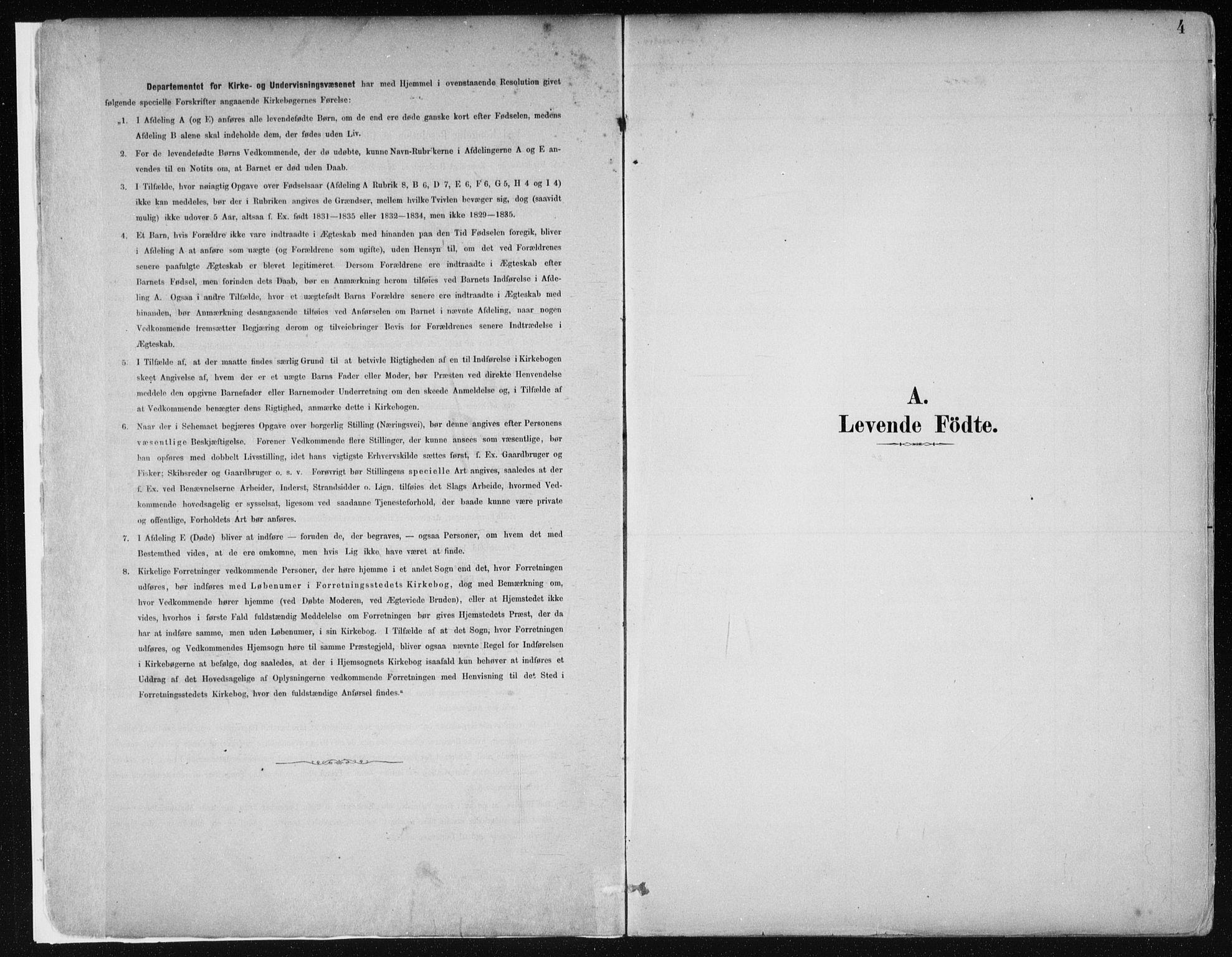 SAB, Hamre Sokneprestembete, H/Haa: Ministerialbok nr. B  1, 1882-1905, s. 4