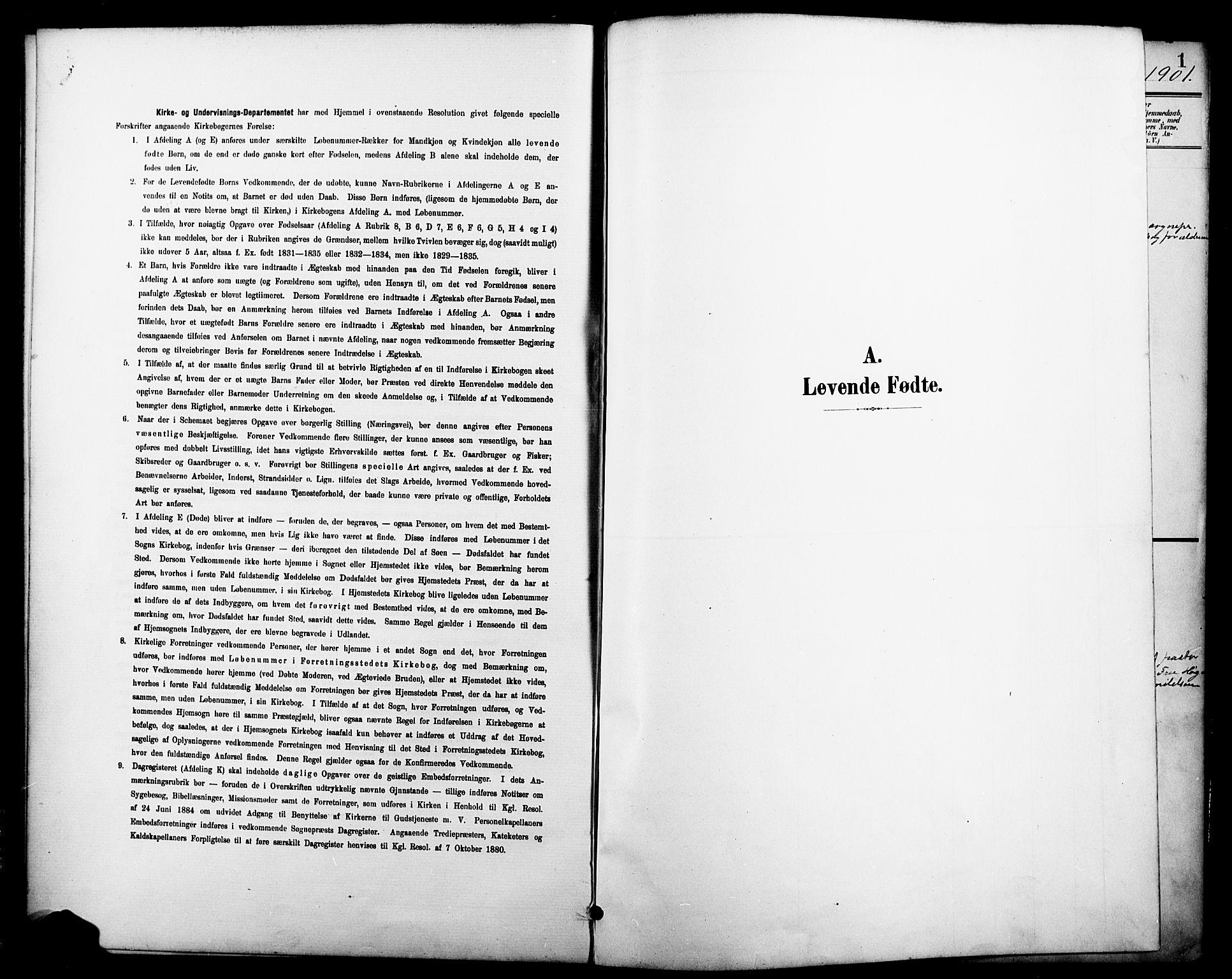 SAKO, Brevik kirkebøker, G/Ga/L0005: Klokkerbok nr. 5, 1901-1924